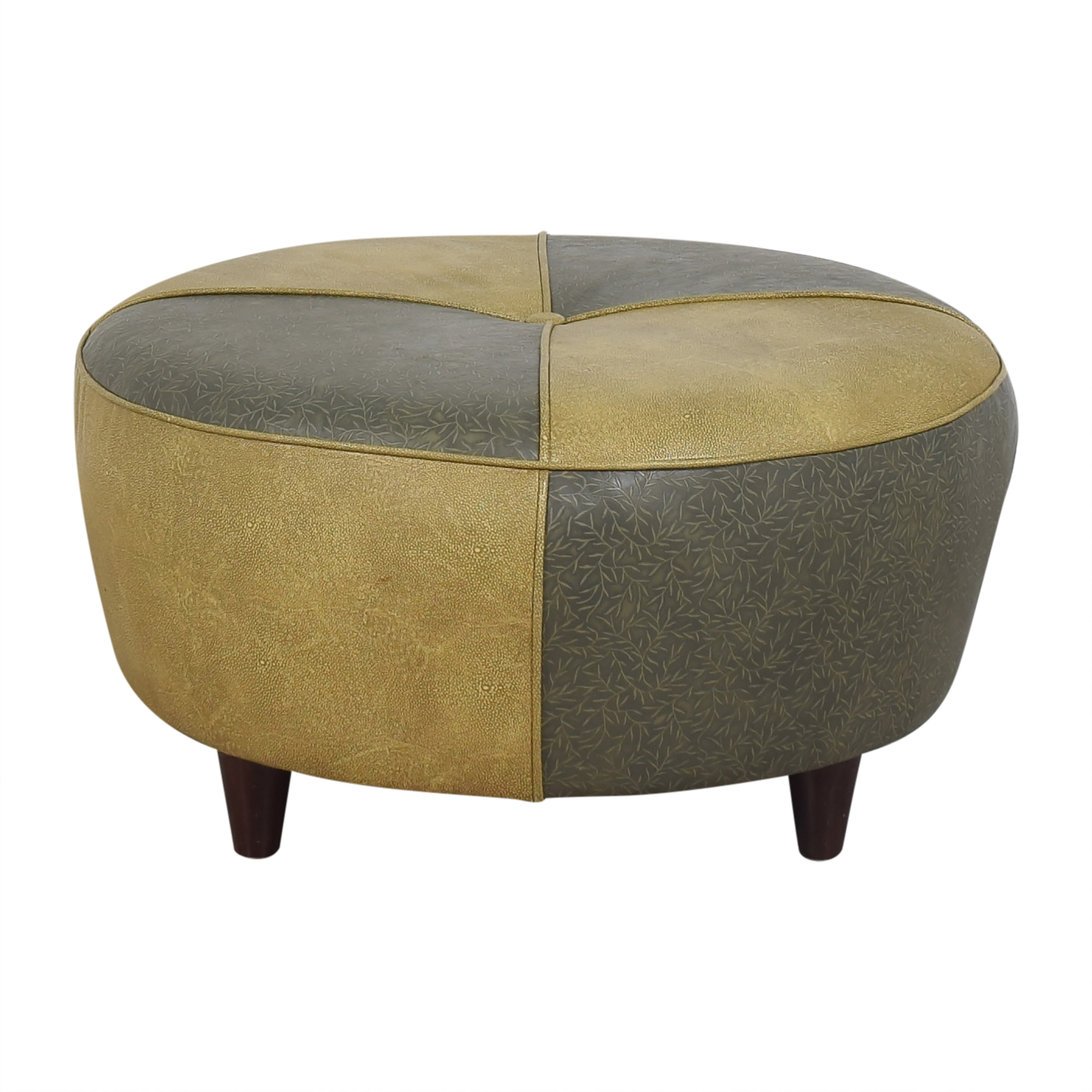 Charter Furniture Charter Furniture Two Tone Round Ottoman coupon