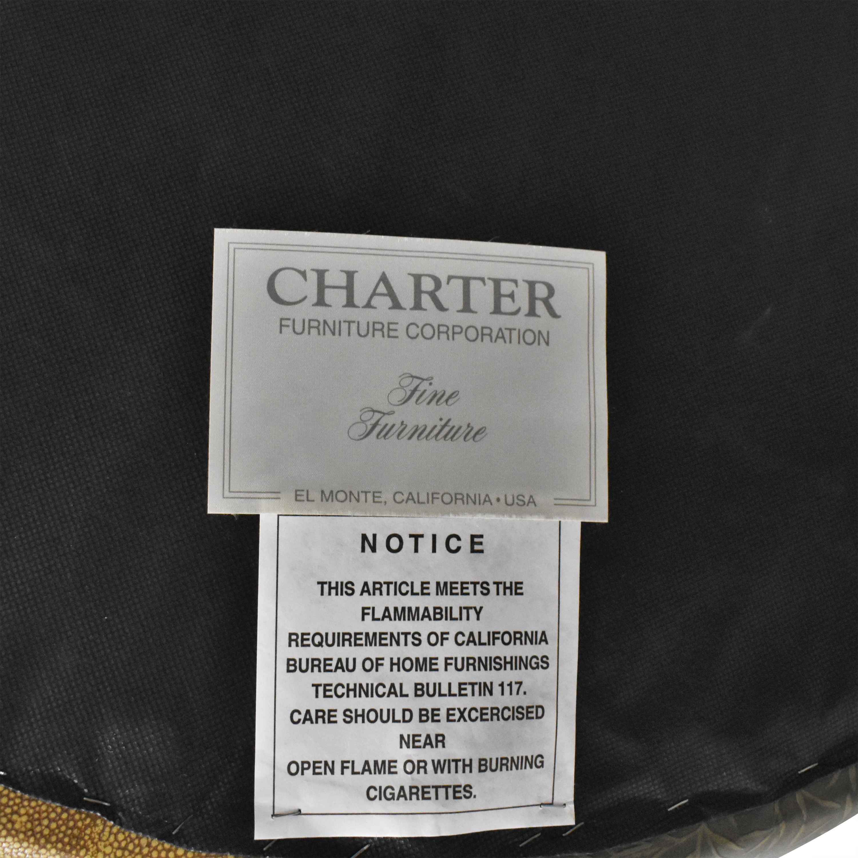 buy Charter Furniture Two Tone Round Ottoman Charter Furniture