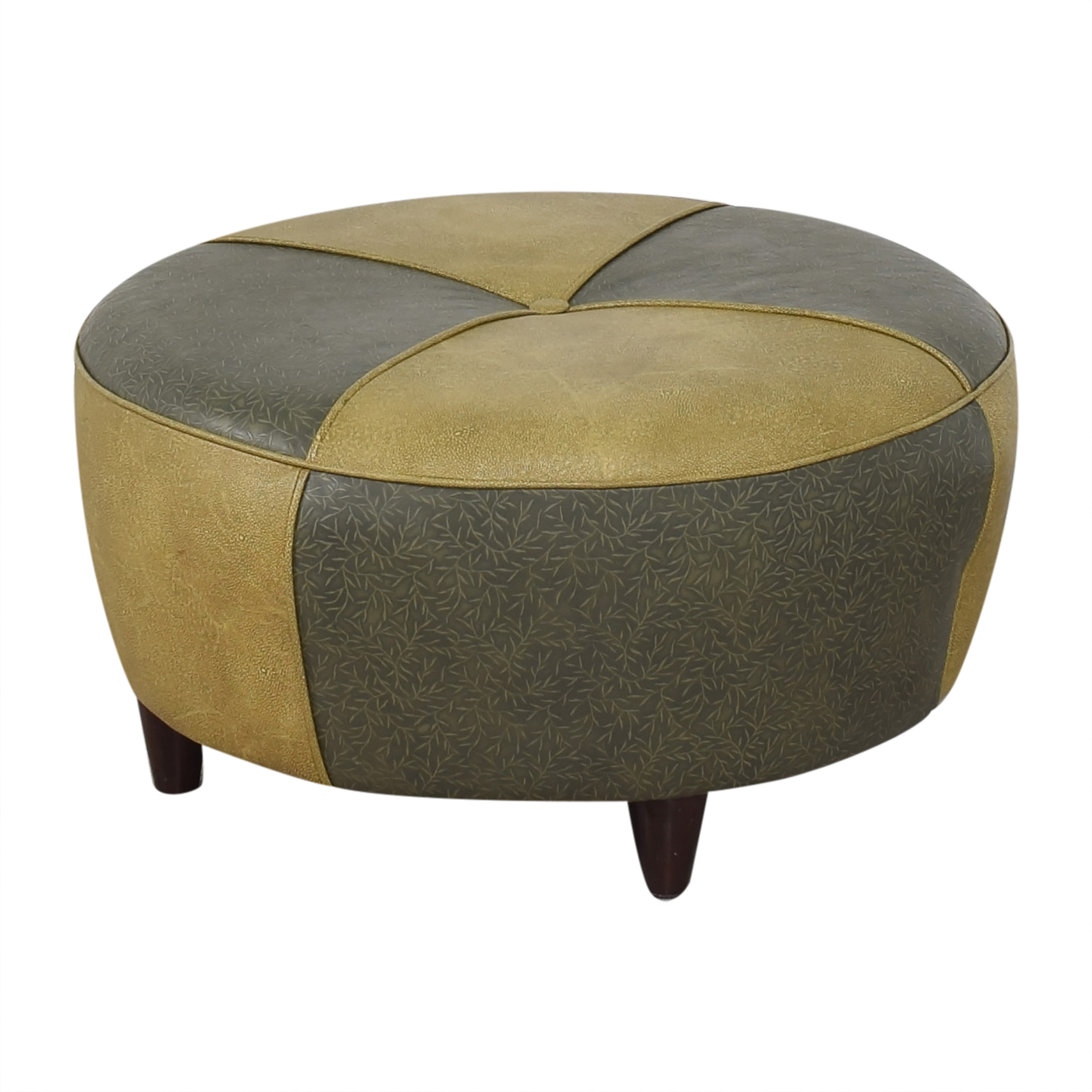 Charter Furniture Charter Furniture Two Tone Round Ottoman ct