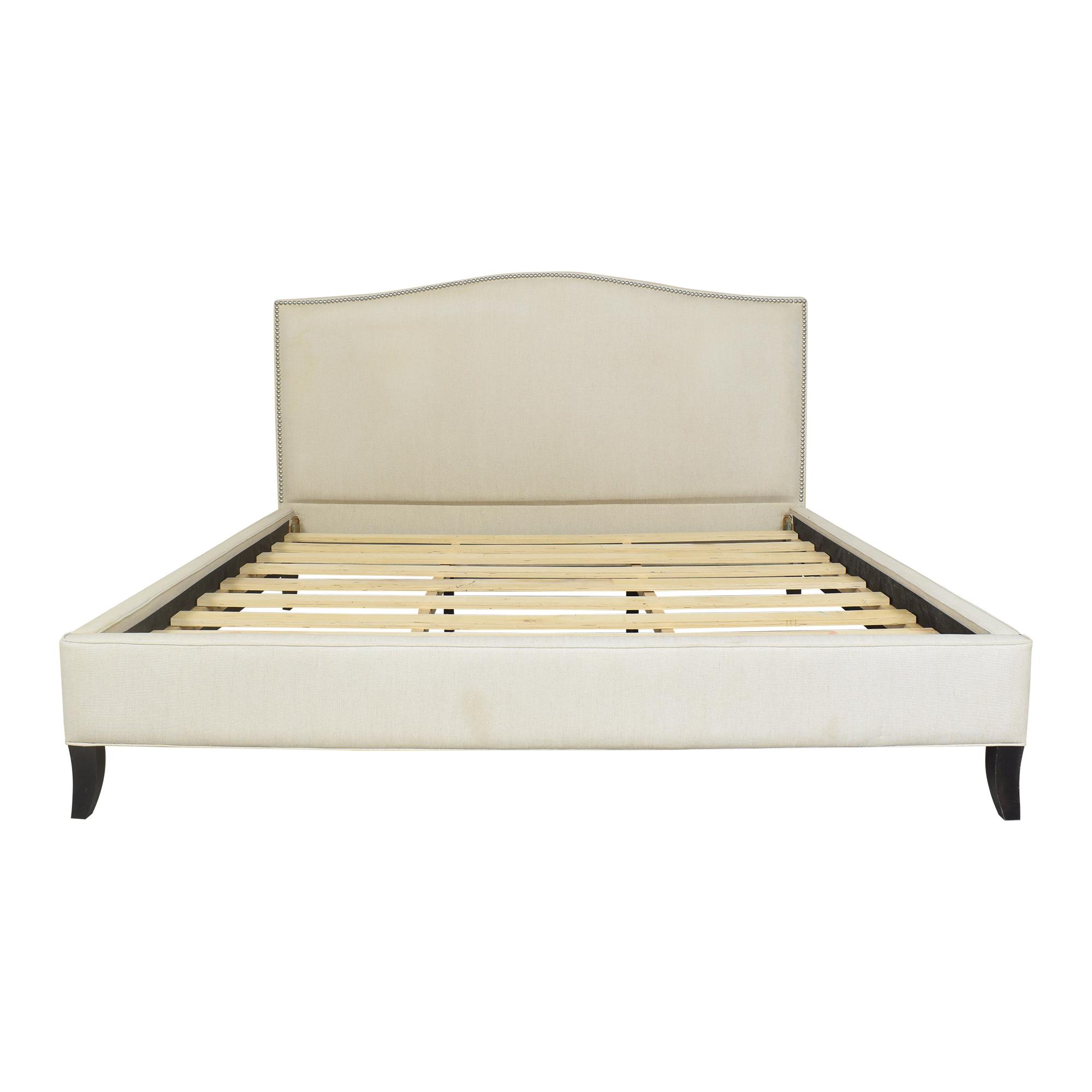 buy Crate & Barrel Colette Upholstered King Bed Crate & Barrel