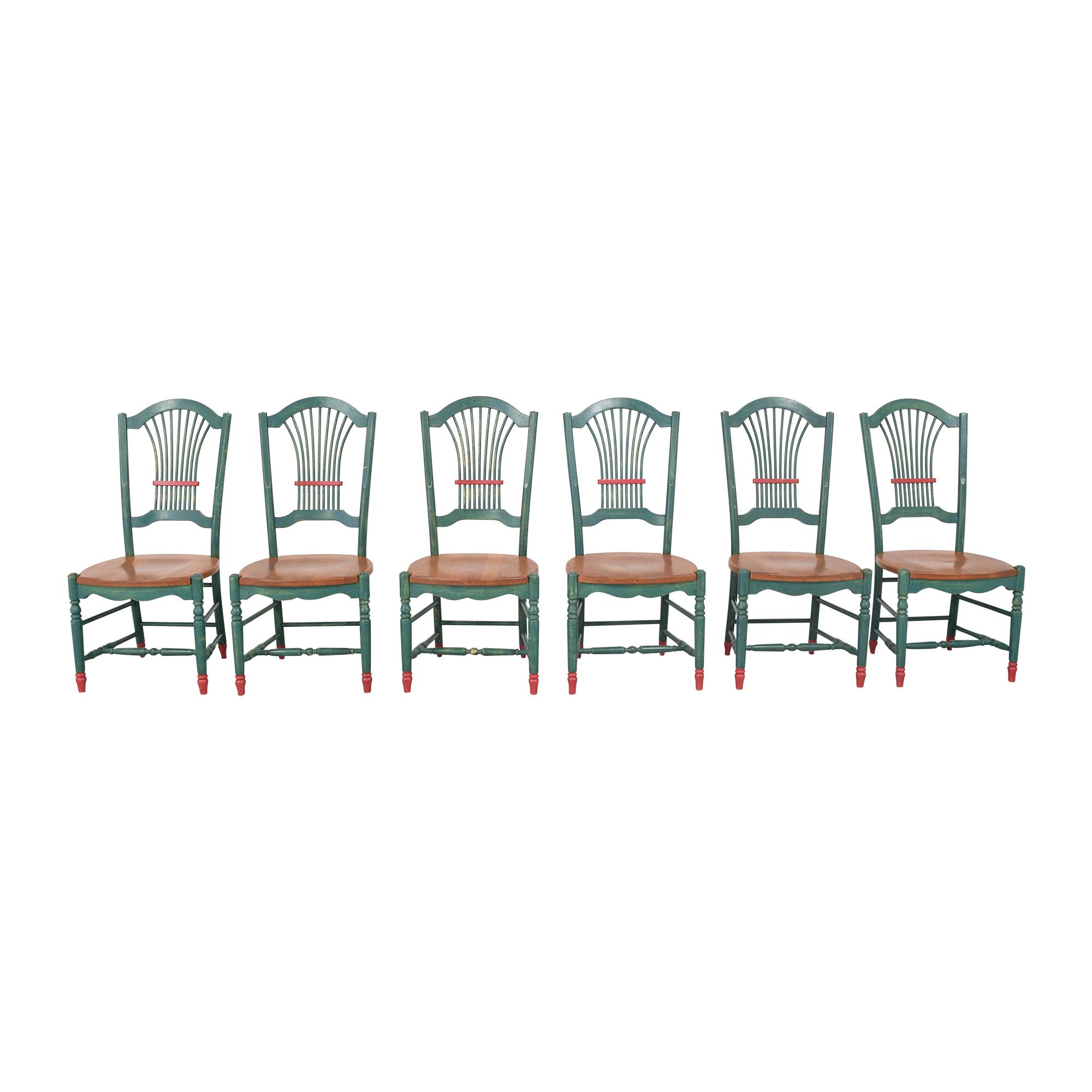 Sticks Sticks Sheaf Back Dining Chairs used