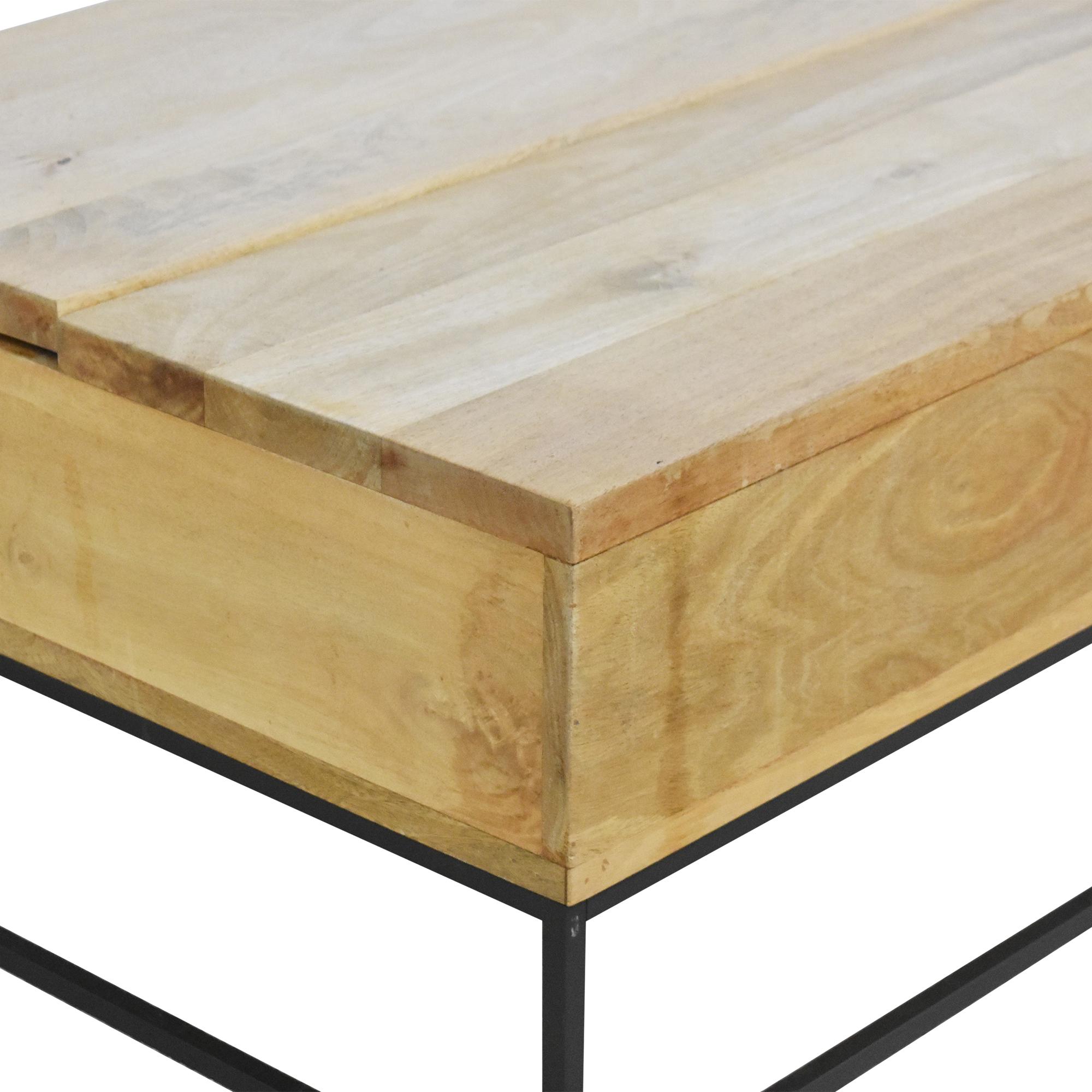West Elm West Elm Industrial Storage Pop Up Coffee Table nyc