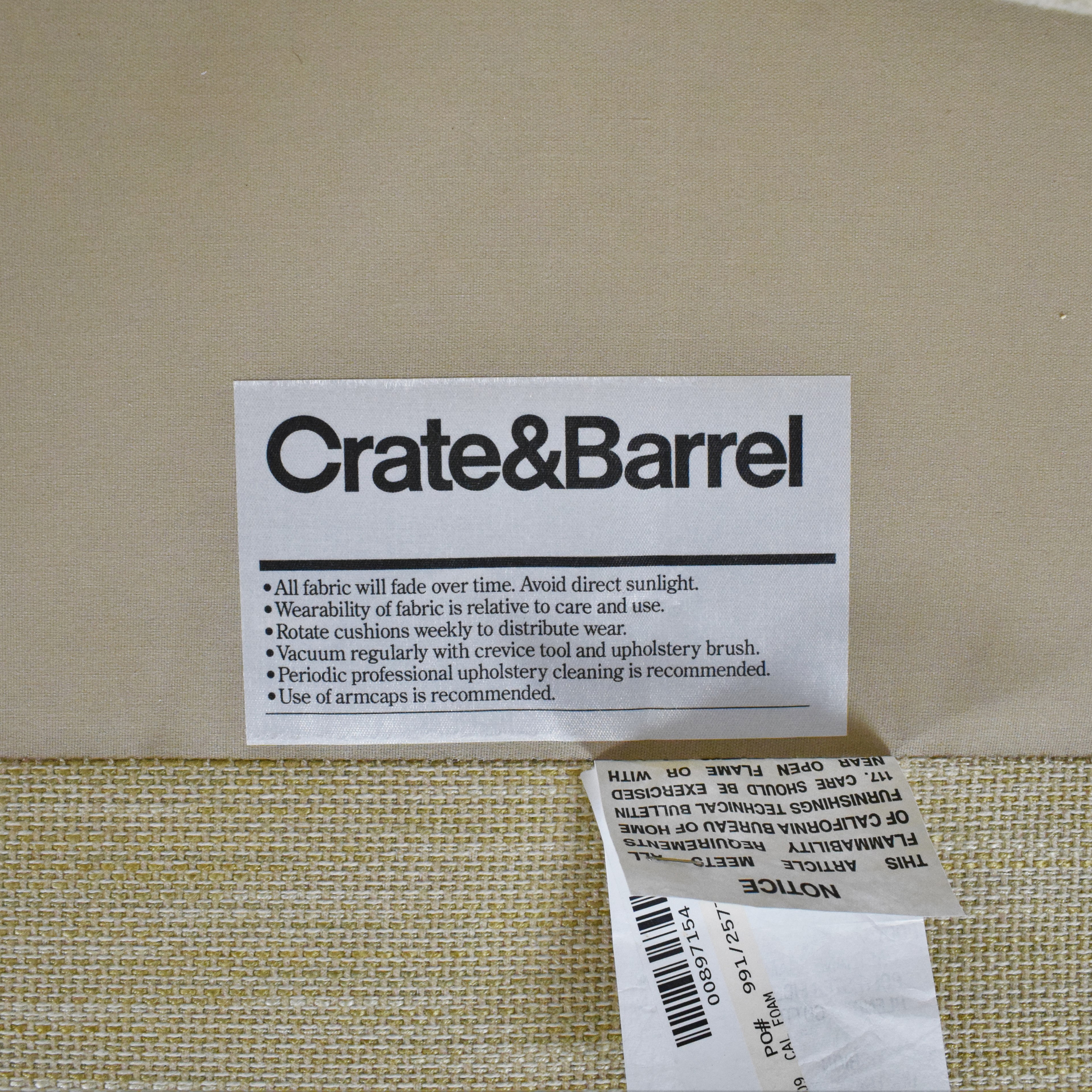 Crate & Barrel Crate & Barrel Hennessy Chair Beige