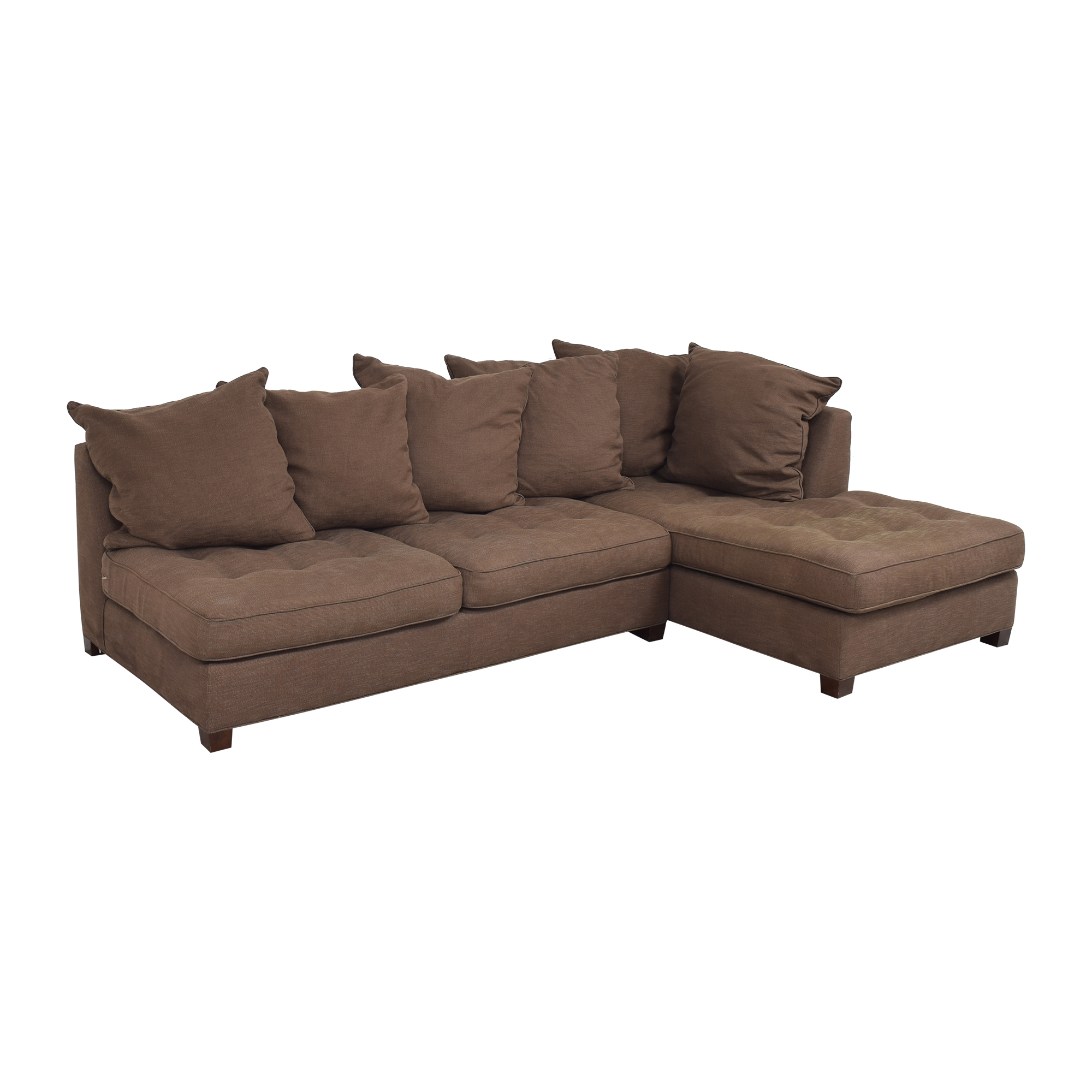 Pottery Barn Pottery Barn Sectional Sofa with Chaise dimensions