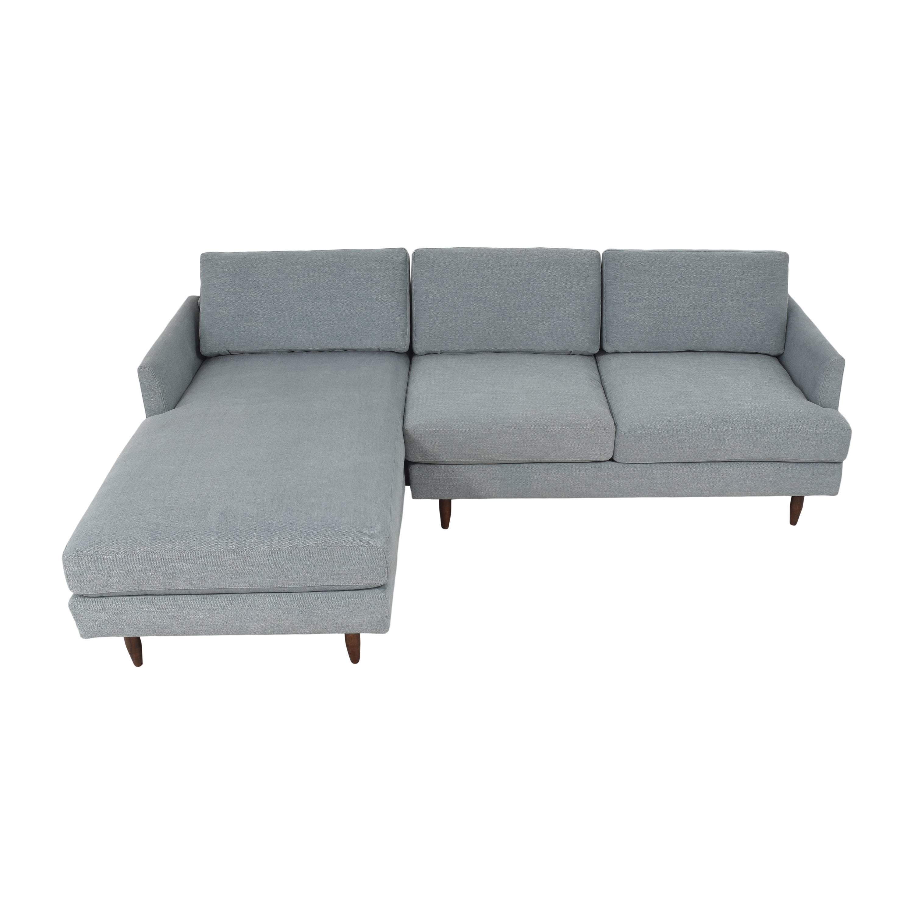 BenchMade Modern Crowd Pleaser Sectional Sofa with Chaise BenchMade Modern