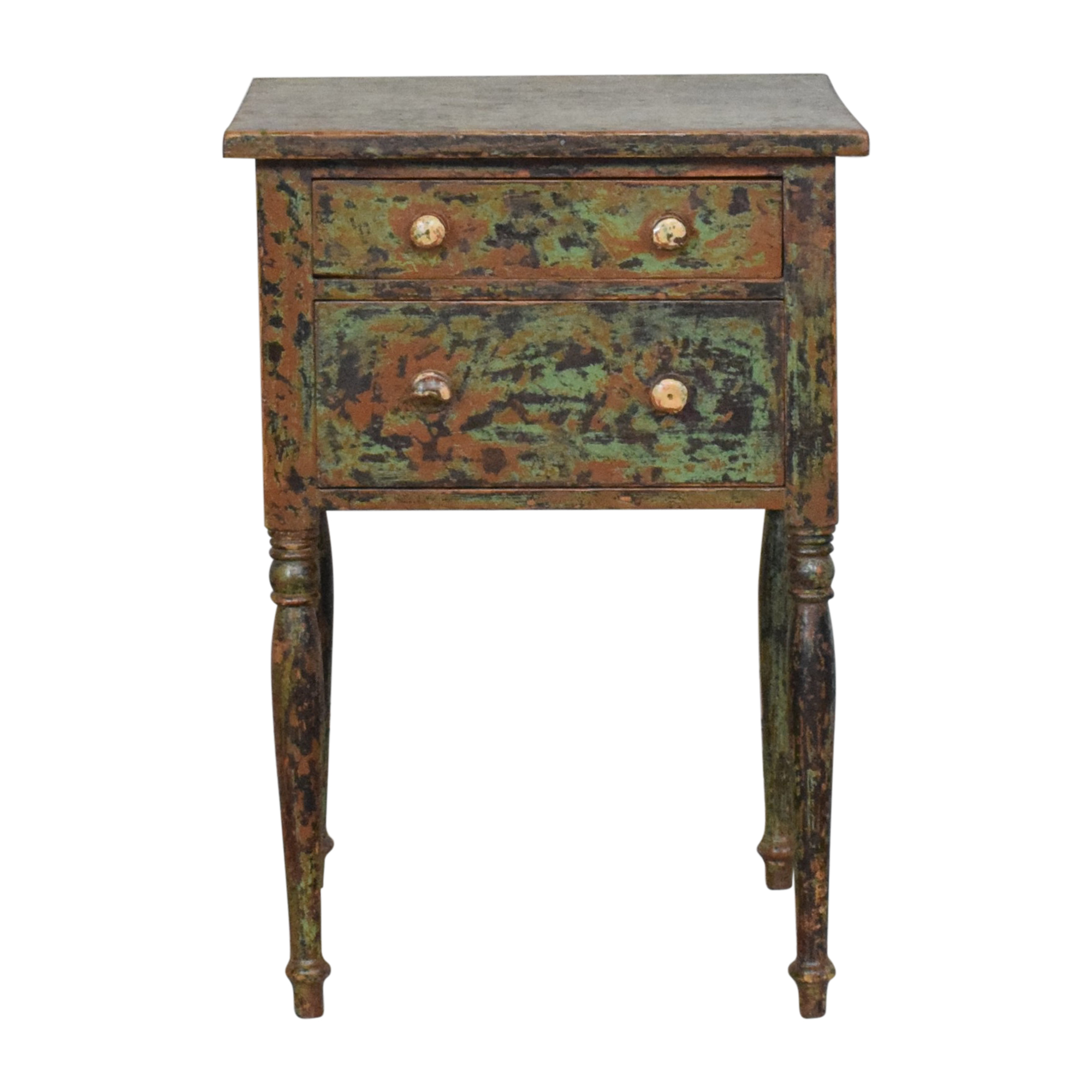 Custom Two Drawer End Table ma