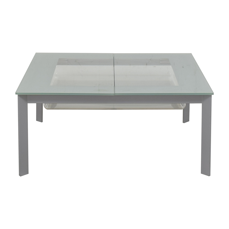West Elm West Elm Pop-Up Storage Coffee Table silver
