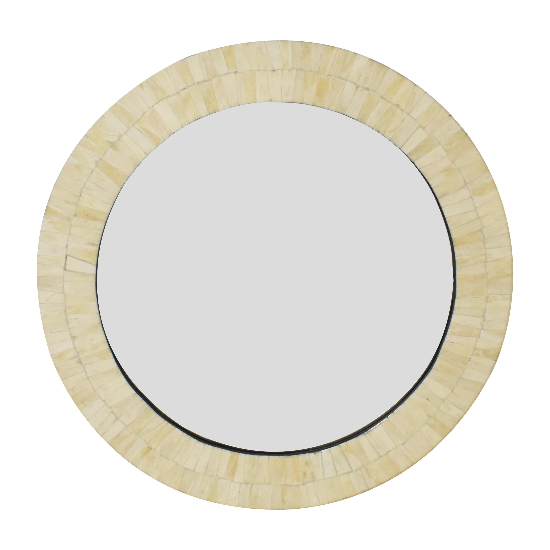 buy Framed Round Wall Mirror  Decor