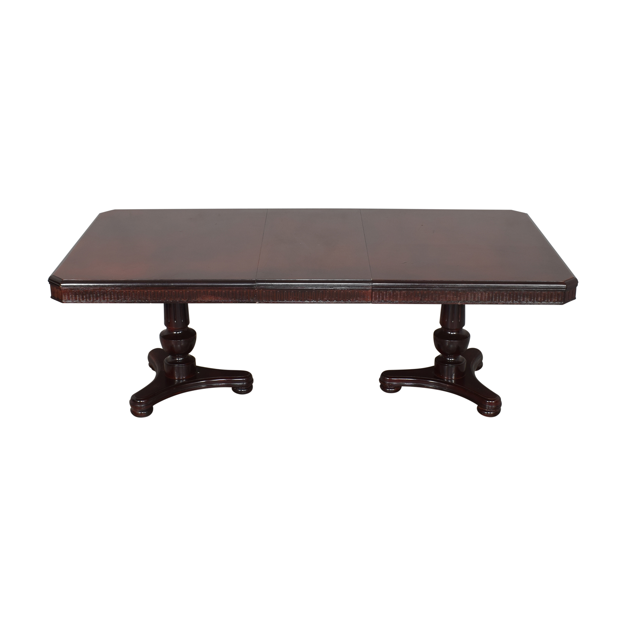 shop Double Pedestal Extendable Dining Table  Dinner Tables
