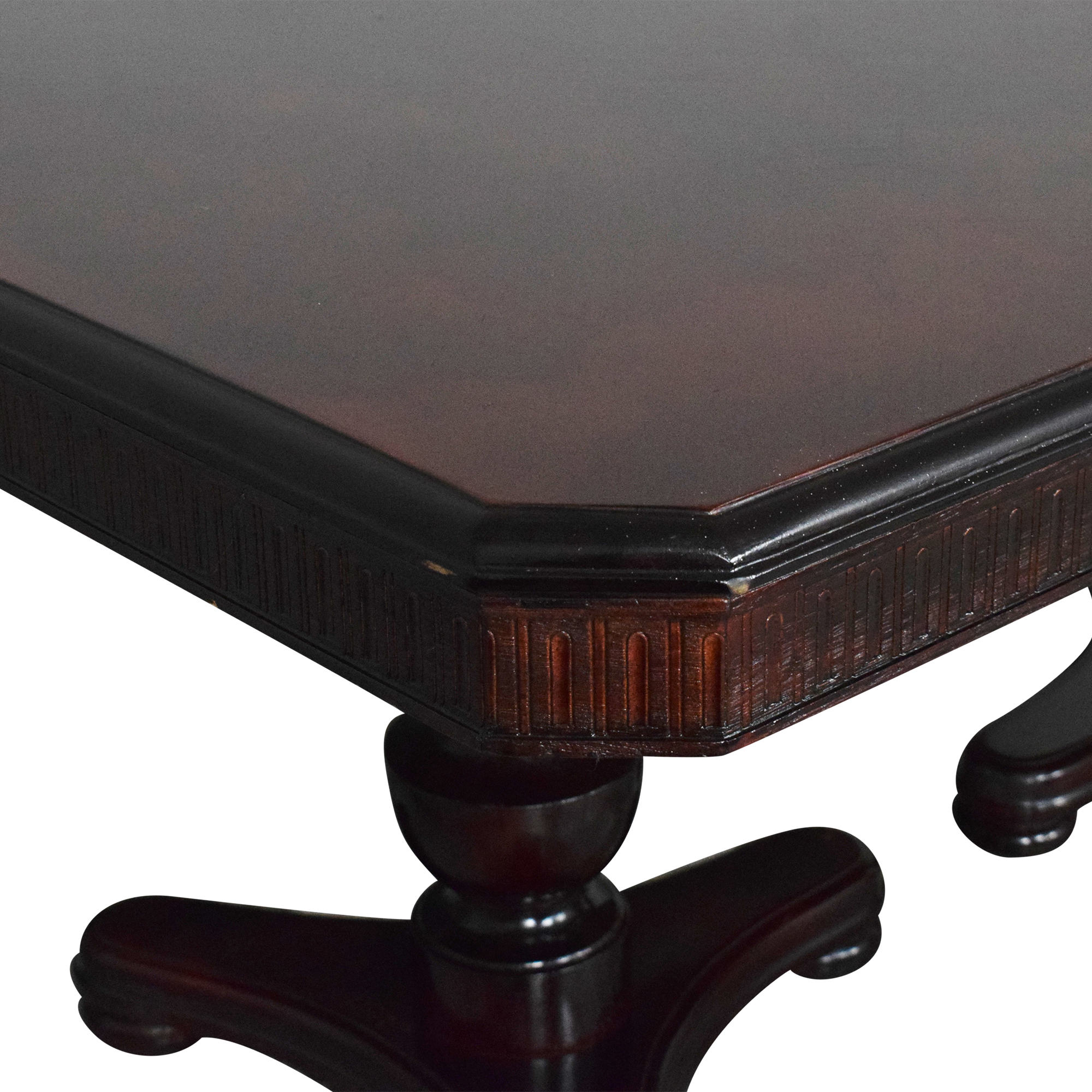 Double Pedestal Extendable Dining Table second hand