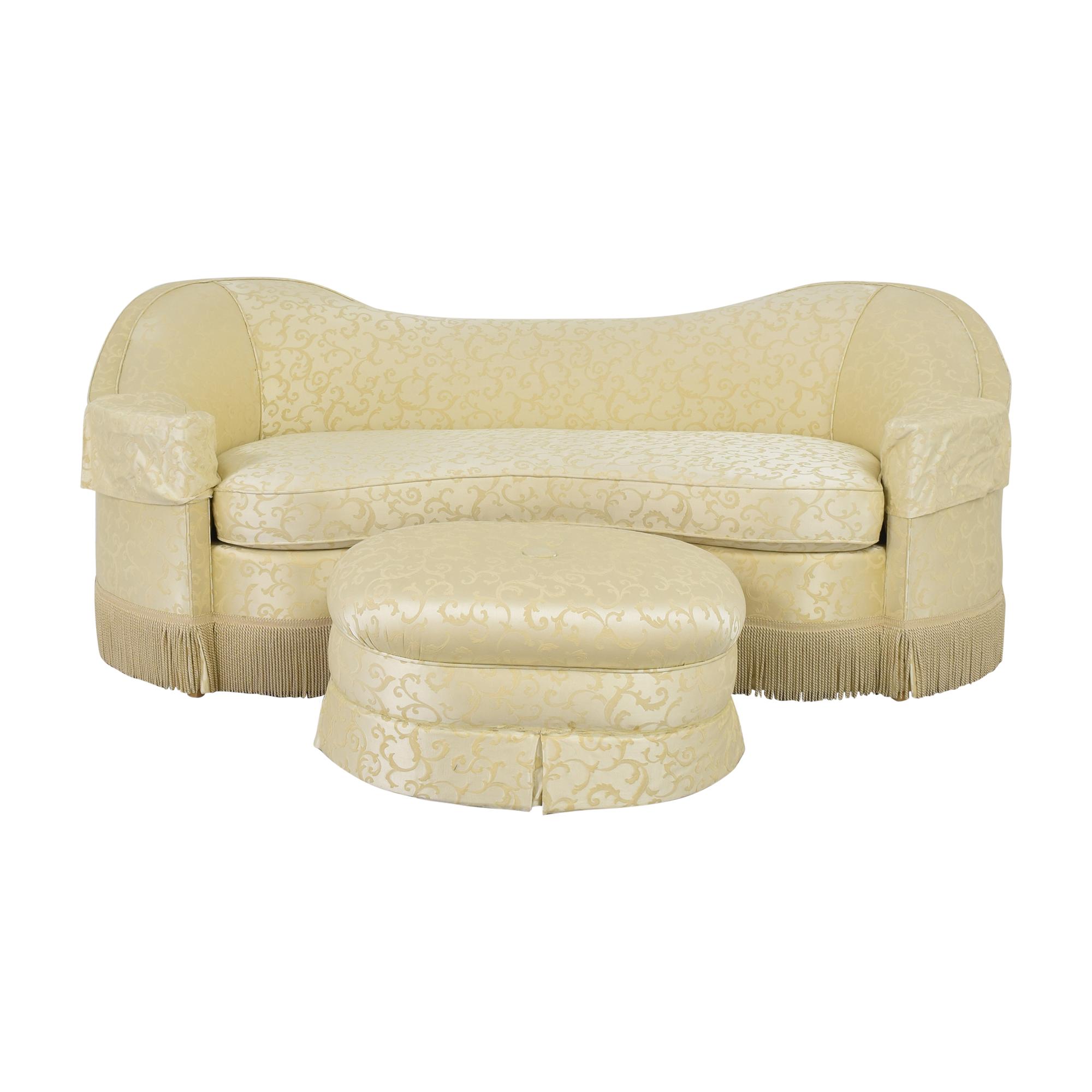 buy Custom Bench Cushion Sofa with Ottoman  Classic Sofas