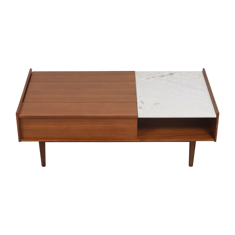 buy West Elm Mid-Century Pop-Up Storage Coffee Table West Elm Tables