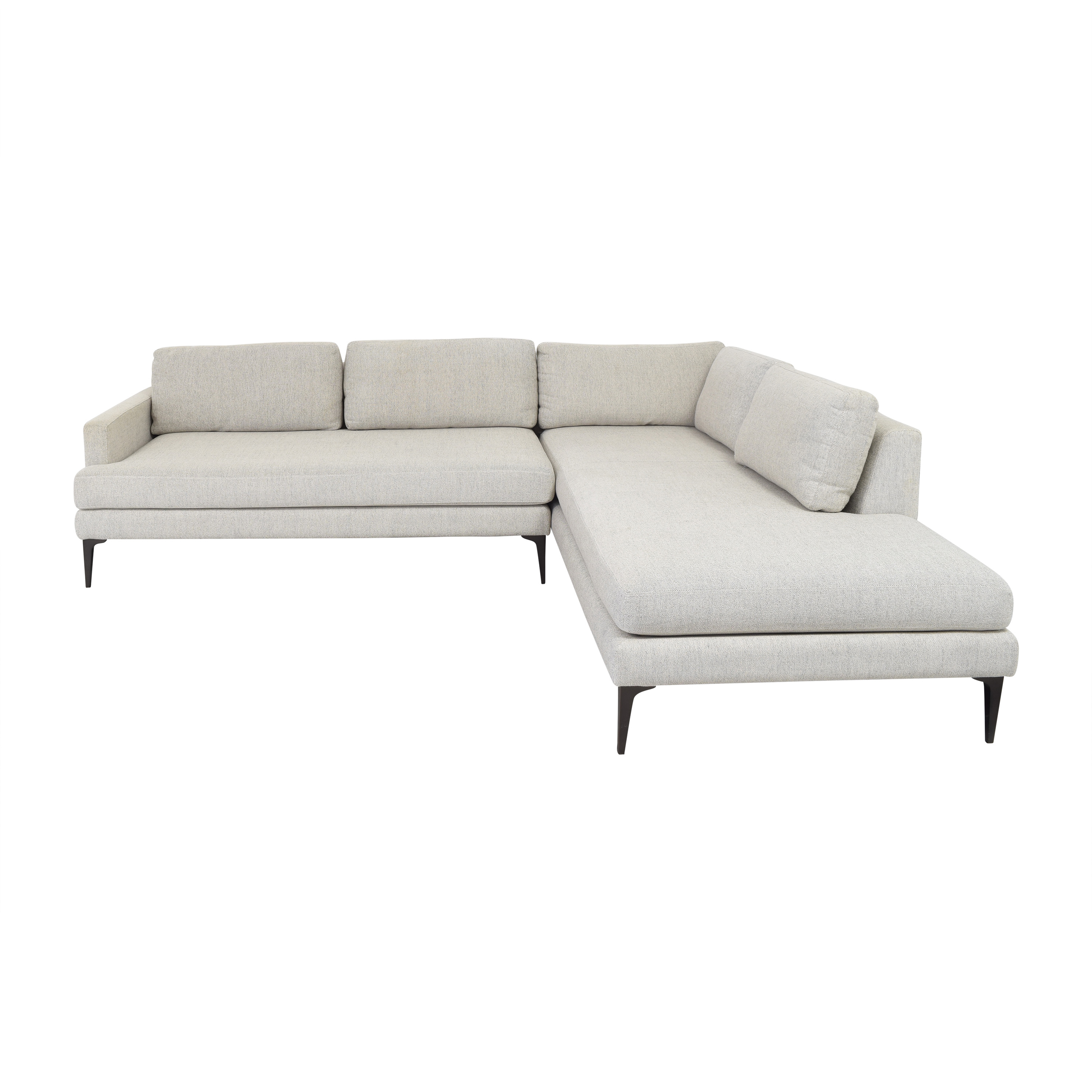 shop West Elm Andes Two Piece Terminal Chaise Sectional West Elm Sofas
