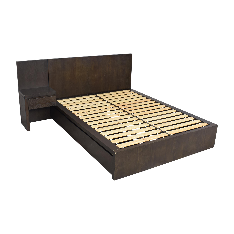 West Elm West Elm Storage Platform Queen Bed with Nightstand used