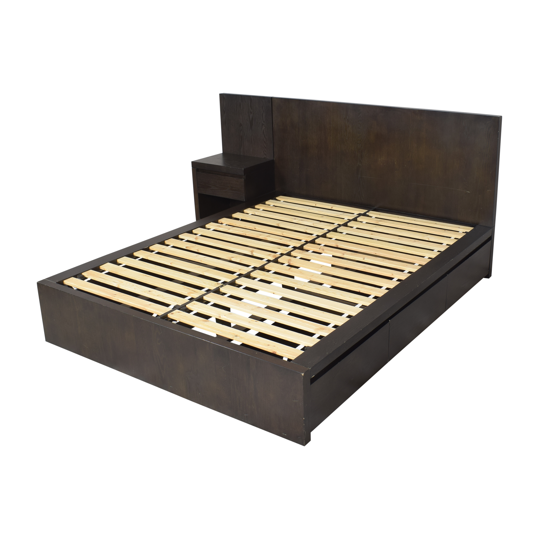 West Elm West Elm Storage Platform Queen Bed with Nightstand on sale