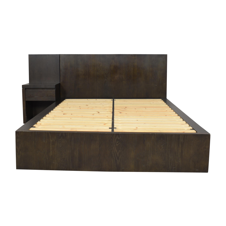buy West Elm Storage Platform Queen Bed with Nightstand West Elm