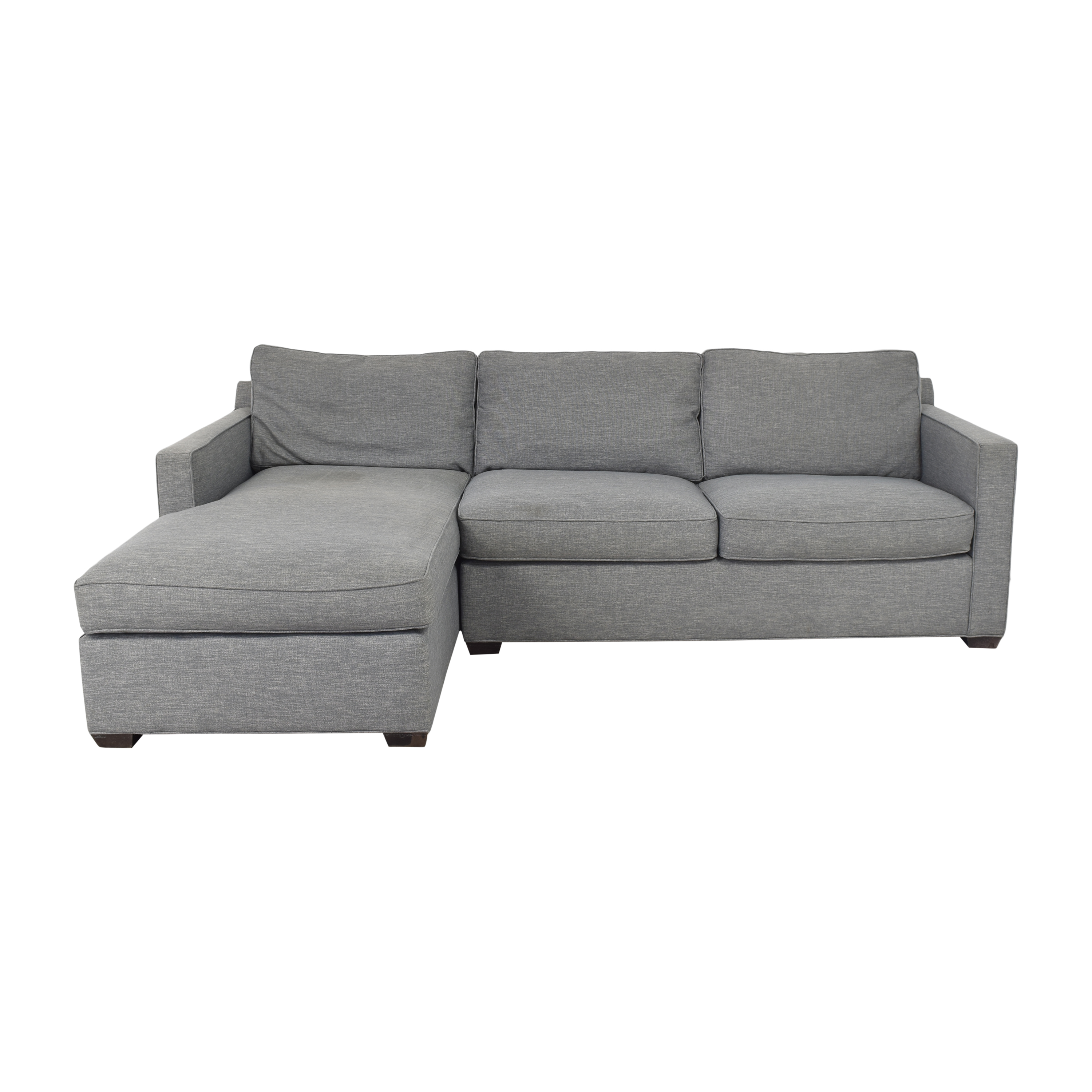 buy Crate & Barrel Crate & Barrel Barrett Two Piece Chaise Sectional online