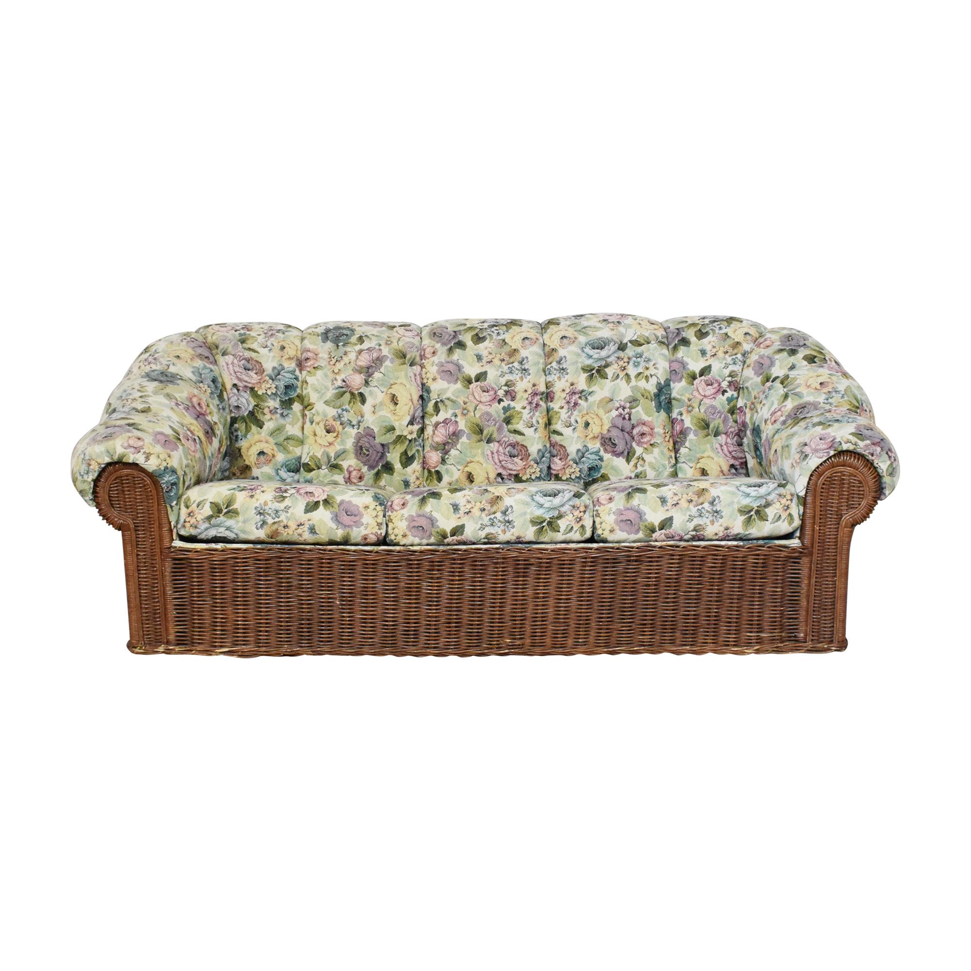 LaCor Furniture LaCor Custom Floral Sleeper Sofa dimensions