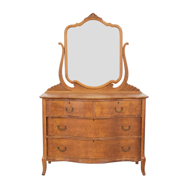 Four Drawer Dresser with Mirror / Dressers