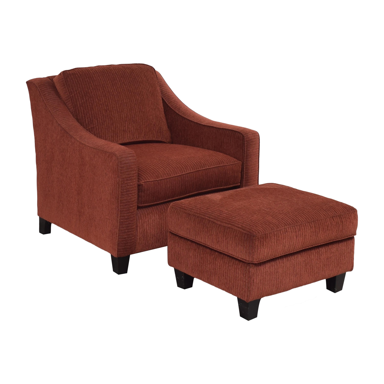 Bassett Furniture Bassett Furniture Corinna Accent Chair with Ottoman Chairs