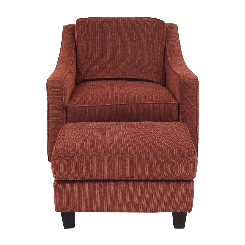 Bassett Furniture Bassett Furniture Corinna Accent Chair with Ottoman pa