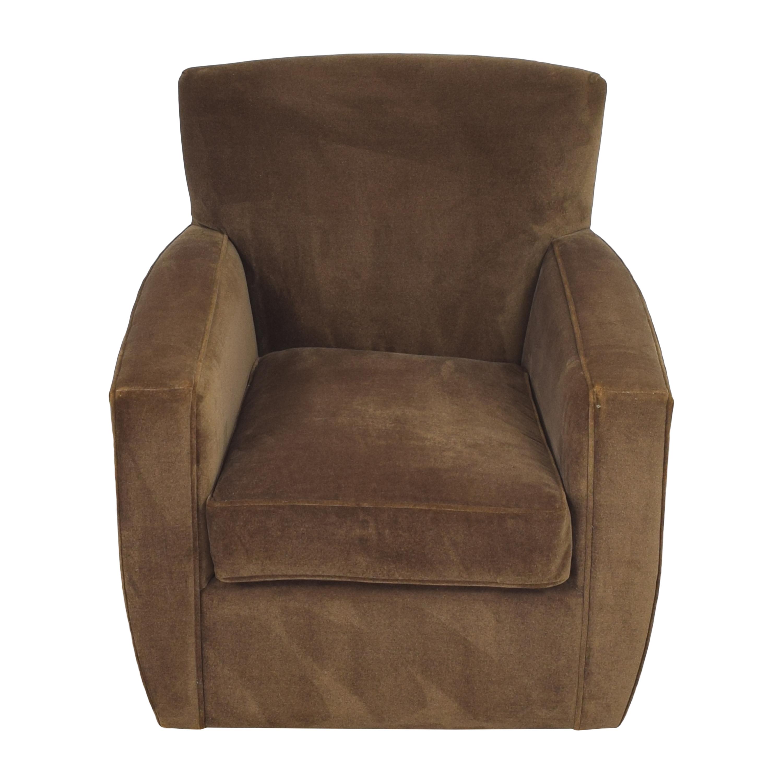 Crate & Barrel Modern Swivel Chair Crate & Barrel
