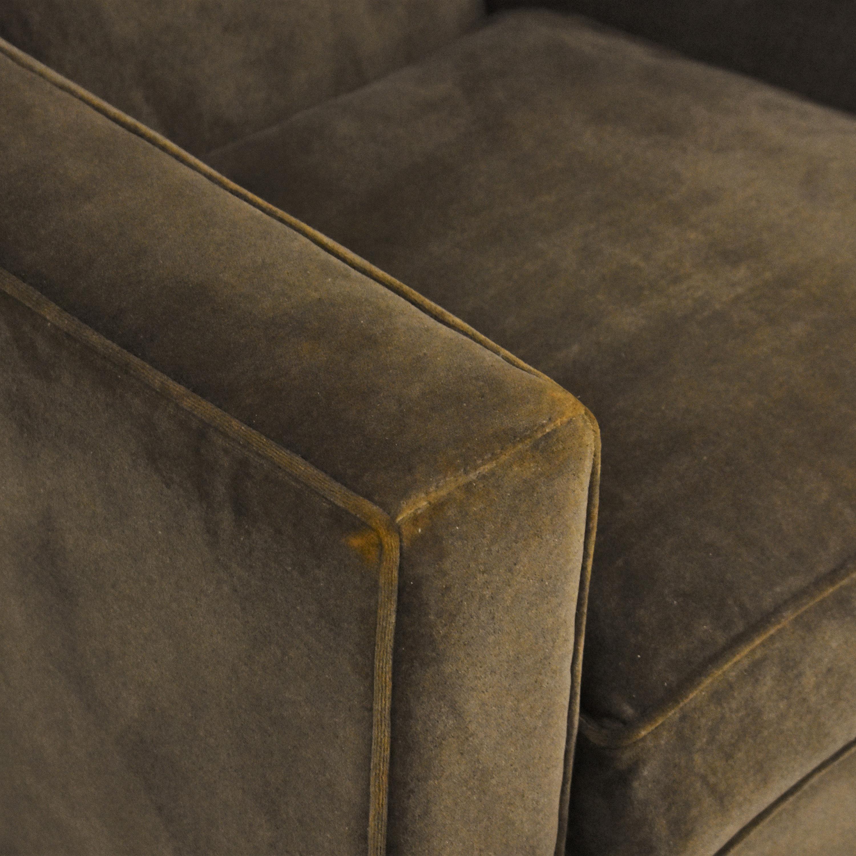 buy Crate & Barrel Modern Swivel Chair Crate & Barrel