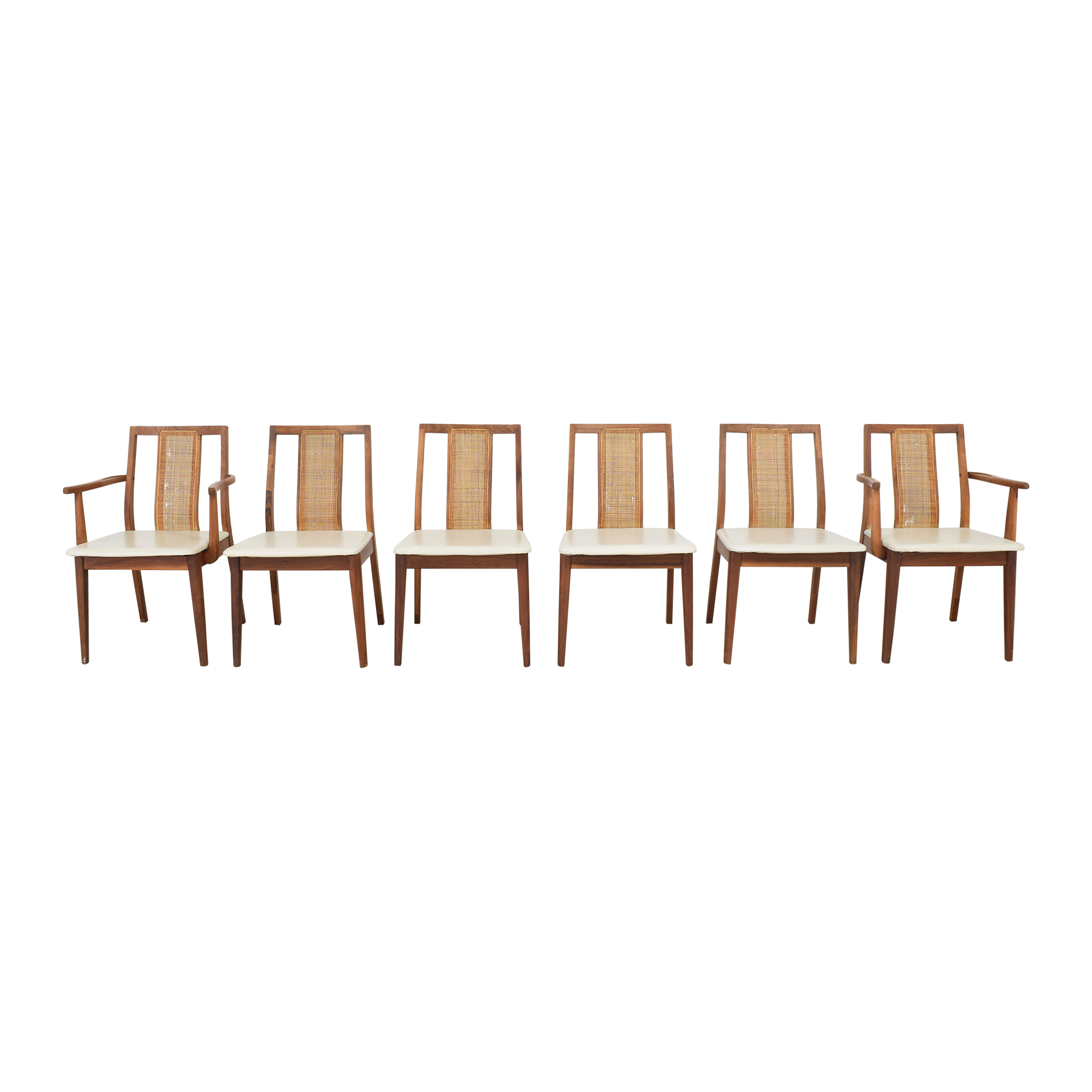 Danish-Style Dining Chairs off white and brown