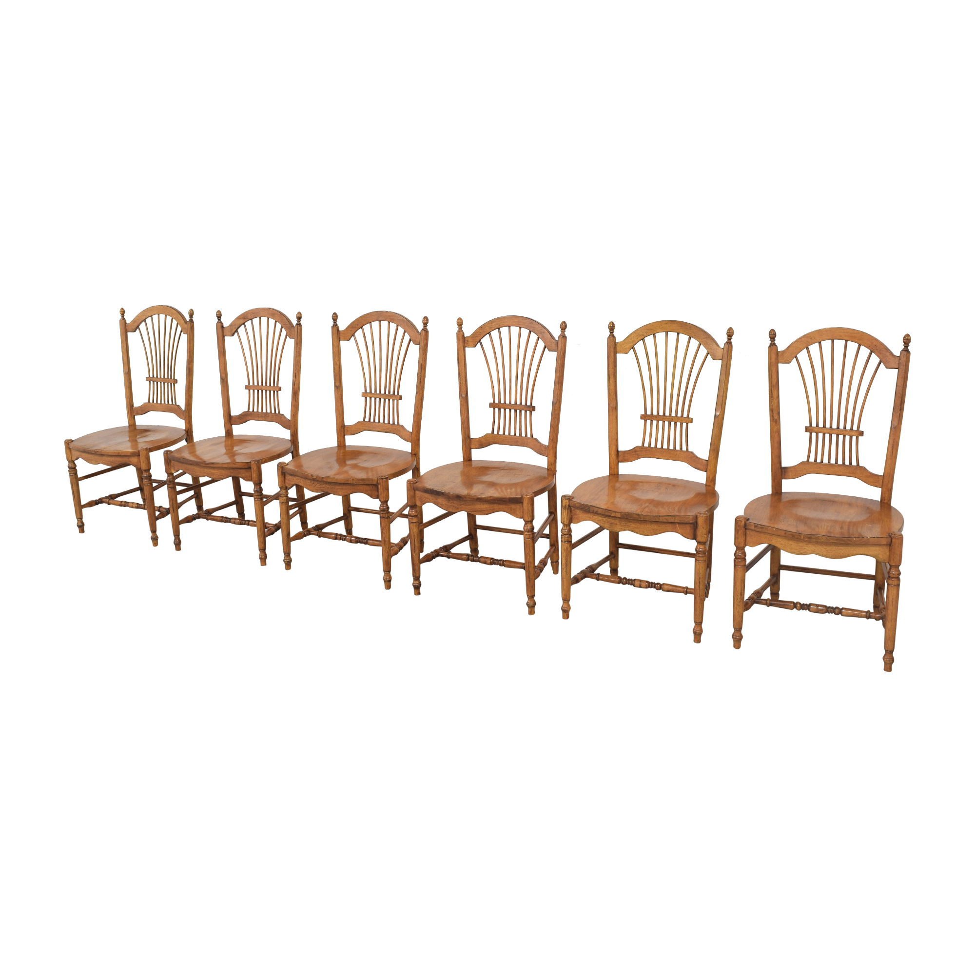 Drexel Drexel Sheaf Back Dining Chairs brown