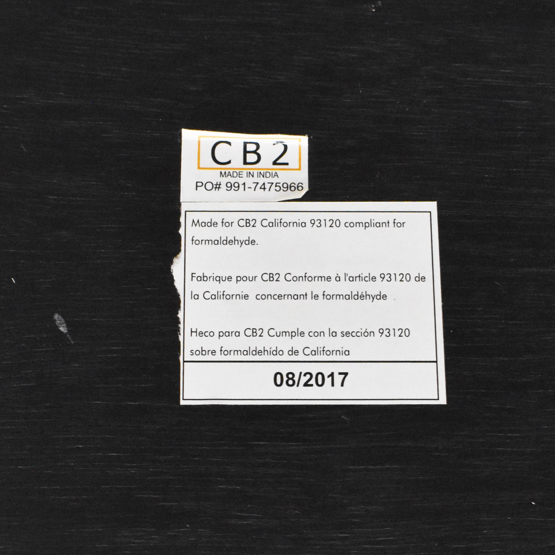CB2 Chevron Coffee Table sale