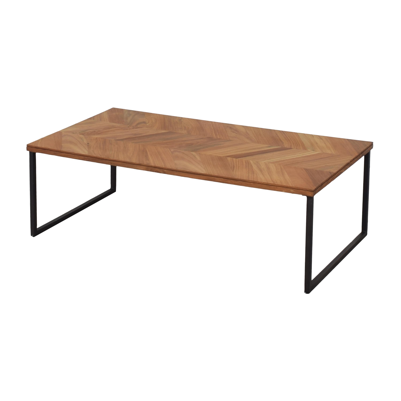 buy CB2 Chevron Coffee Table CB2 Coffee Tables