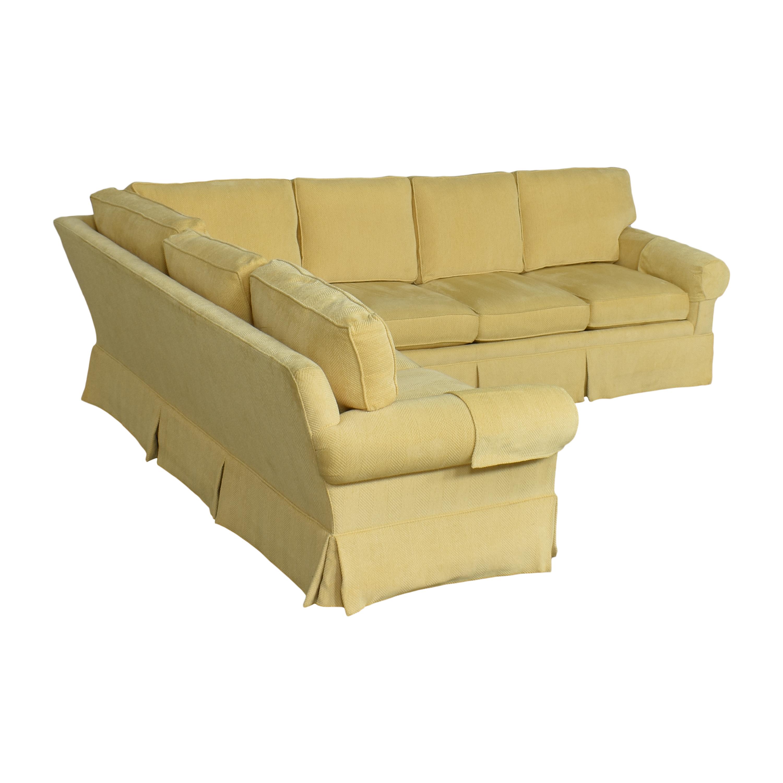 shop Lexington Furniture Skirted Corner Sectional Sofa Lexington Furniture