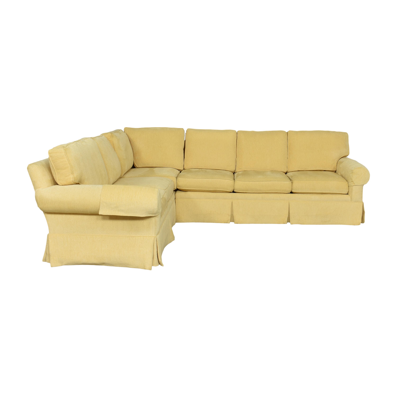 Lexington Furniture Skirted Corner Sectional Sofa Lexington Furniture