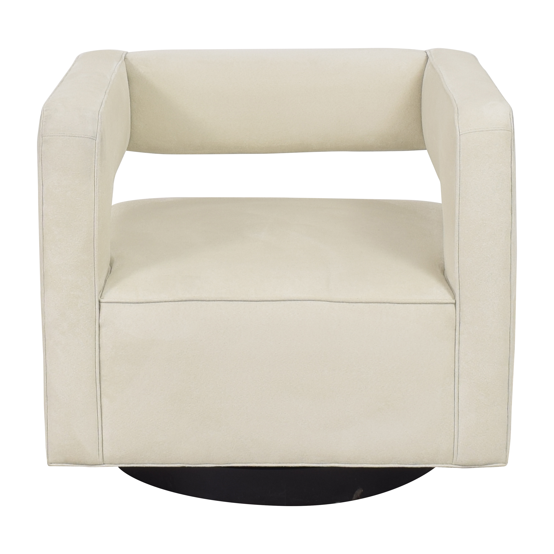 buy Mitchell Gold + Bob Williams Nico Return Swivel Chair Mitchell Gold + Bob Williams Chairs