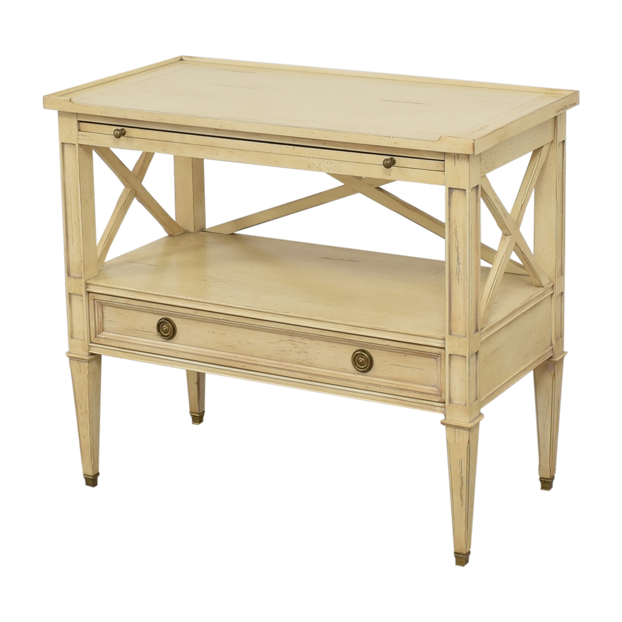 Hickory White Continental Bedside Table / Tables