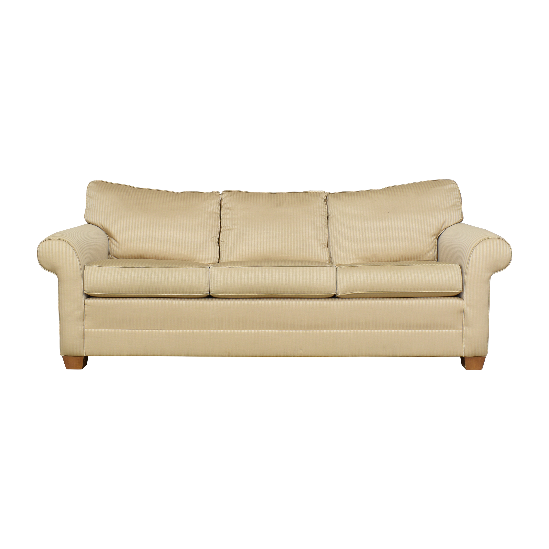 Ethan Allen Ethan Allen Bennett Roll Arm Queen Sleeper Sofa Sofas