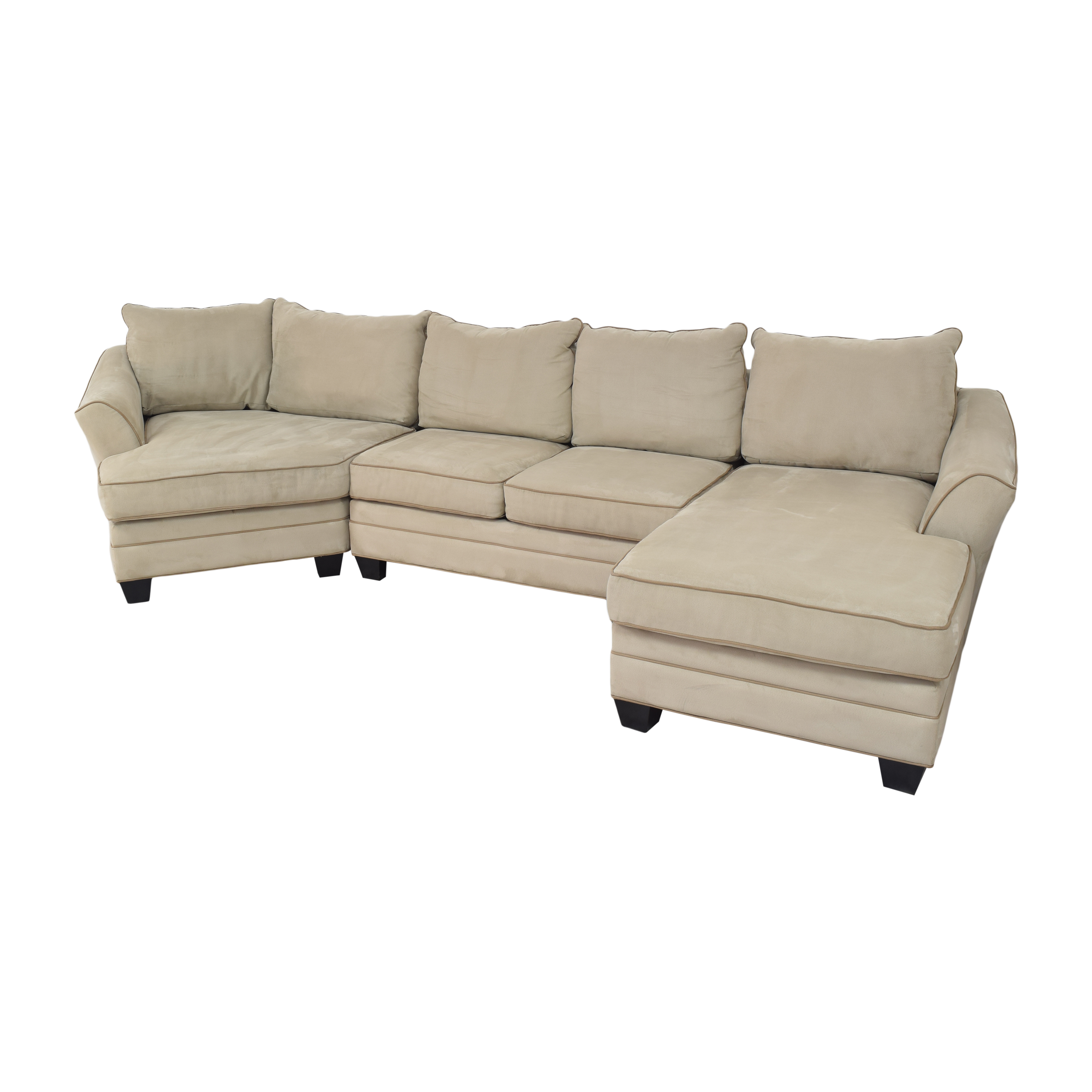 Raymour & Flanigan Raymour & Flanigan Foresthill Sectional Sofa dimensions