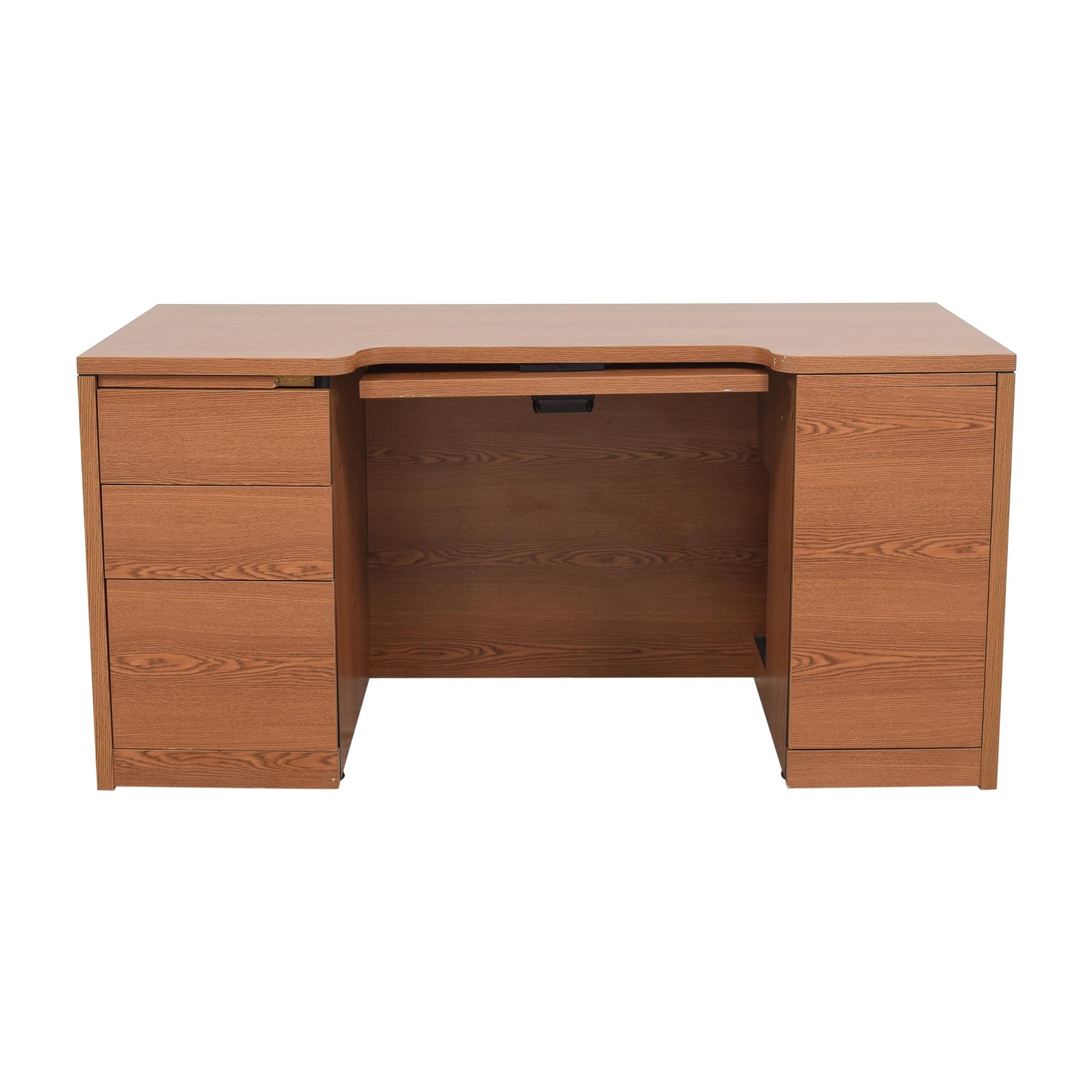 buy Hon Double Pedestal Desk Hon