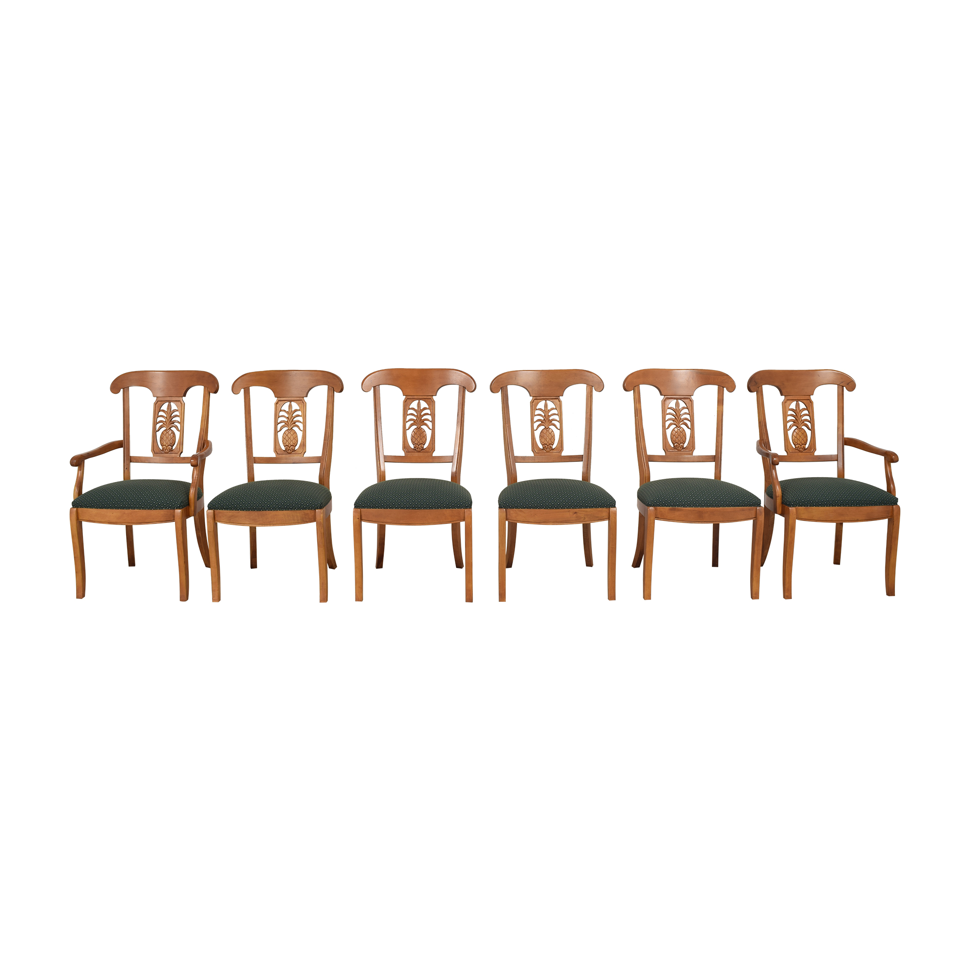 shop Ethan Allen Legacy Collection Pineapple Dining Chairs Ethan Allen Dining Chairs