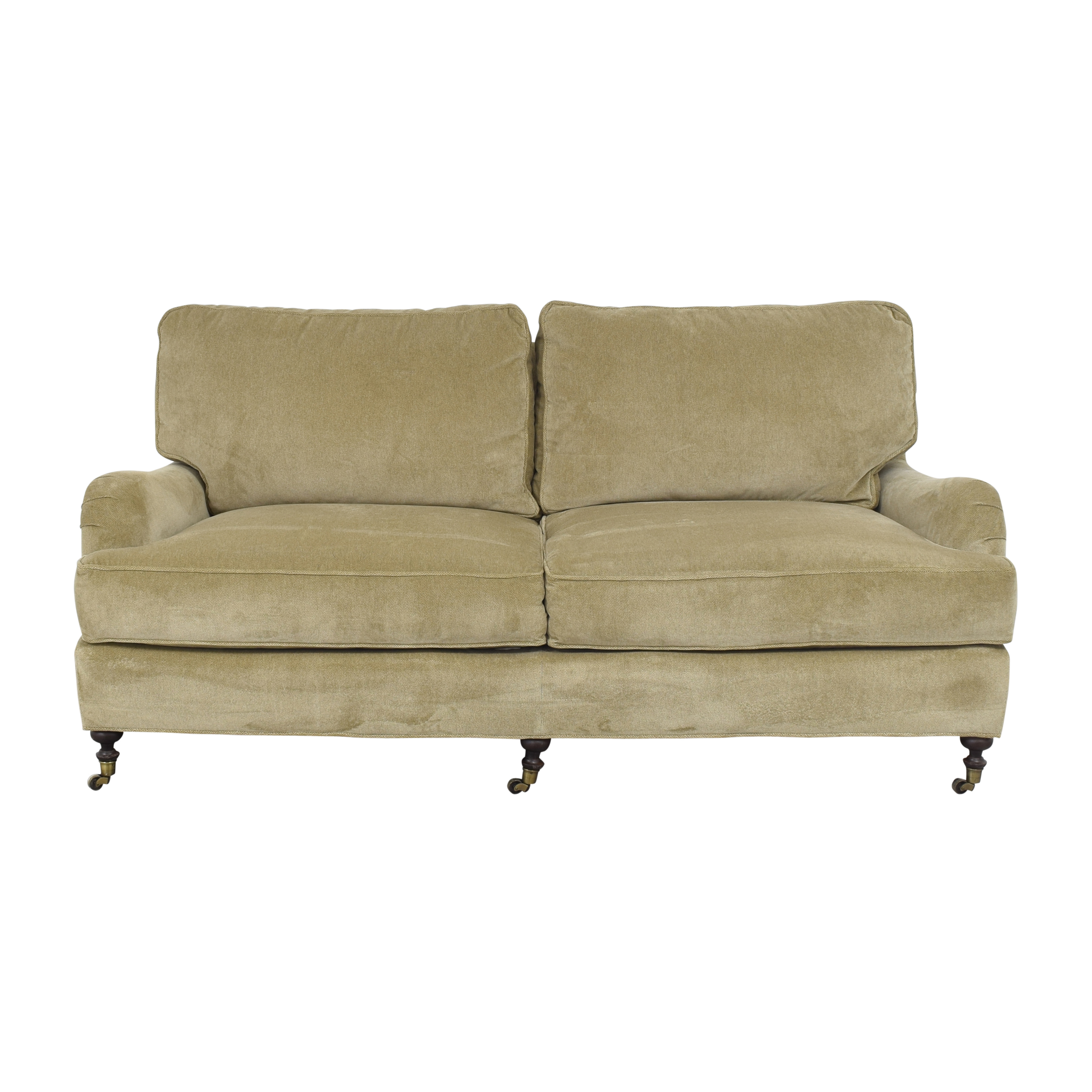 Lee Industries Two Cushion Sofa with Casters / Sofas