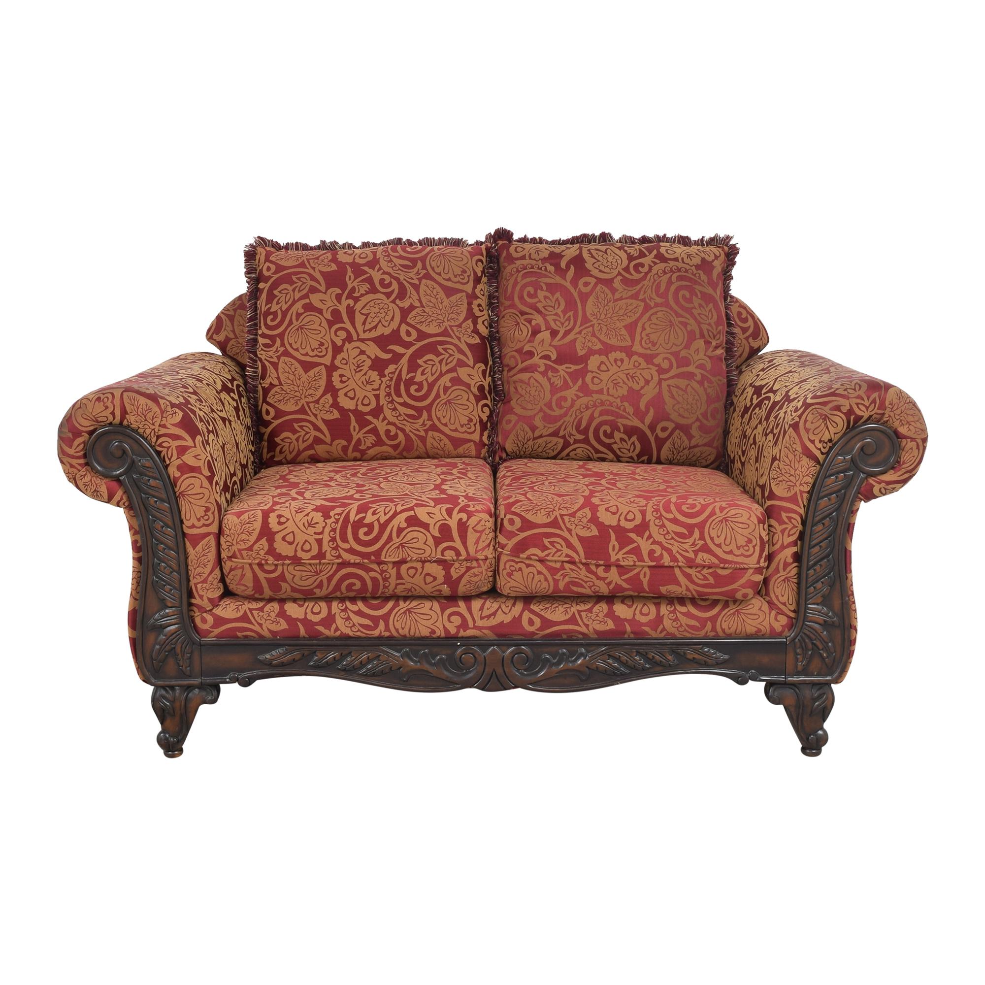 Hughes Furniture Roll Arm Loveseat Hughes Furniture