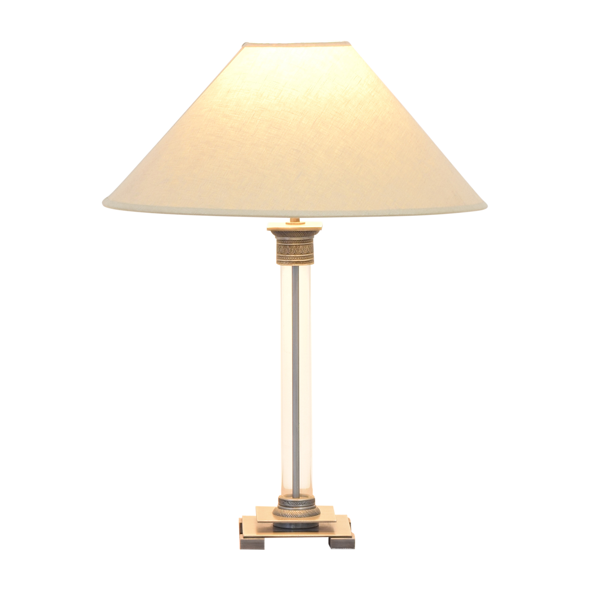 Restoration Hardware Restoration Hardware Column Table Lamp second hand