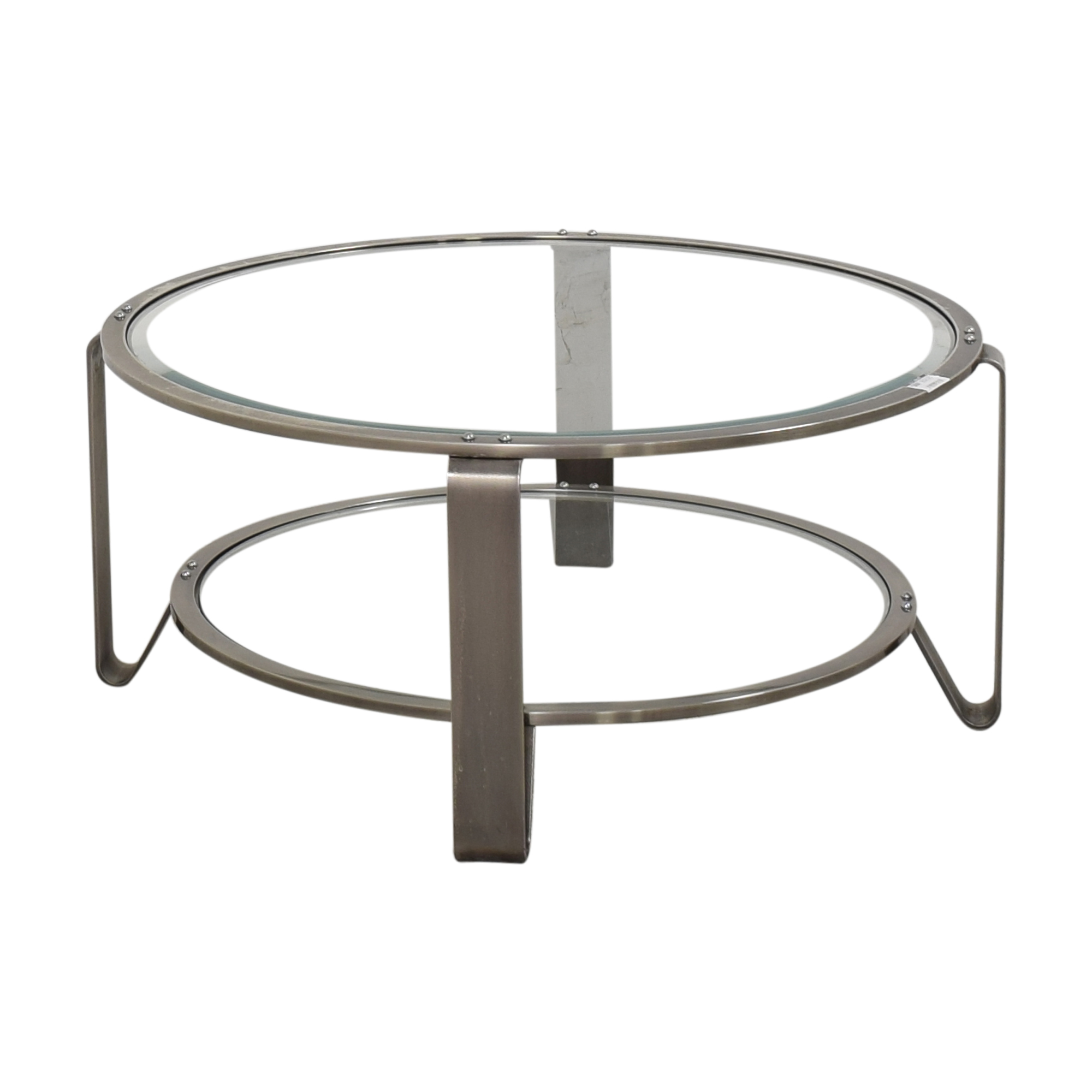 Two Shelf Round Coffee Table / Coffee Tables