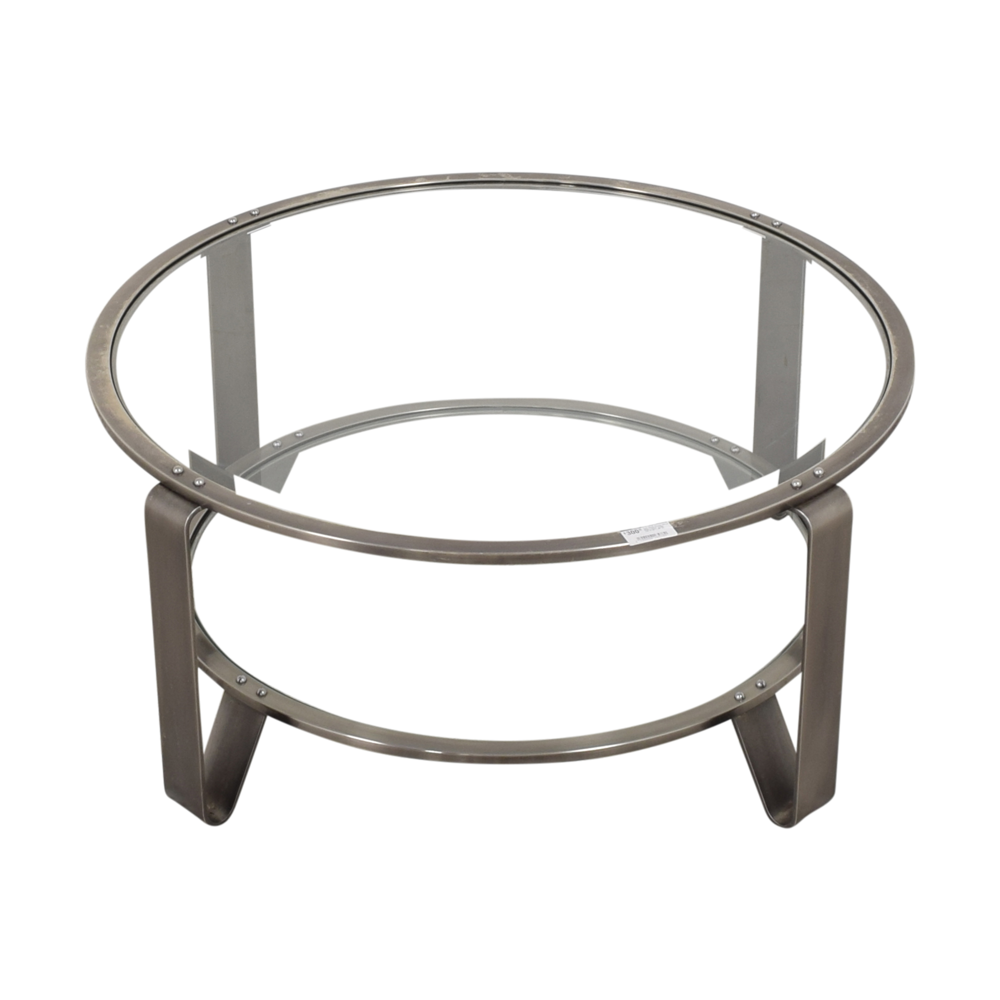shop Two Shelf Round Coffee Table