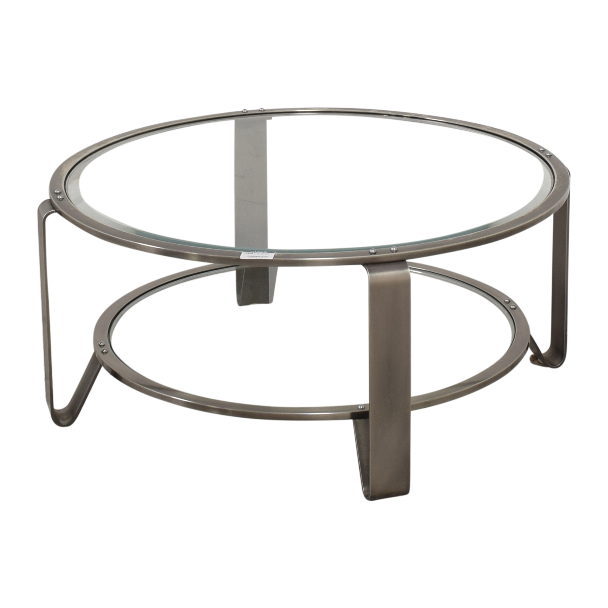 Two Shelf Round Coffee Table for sale