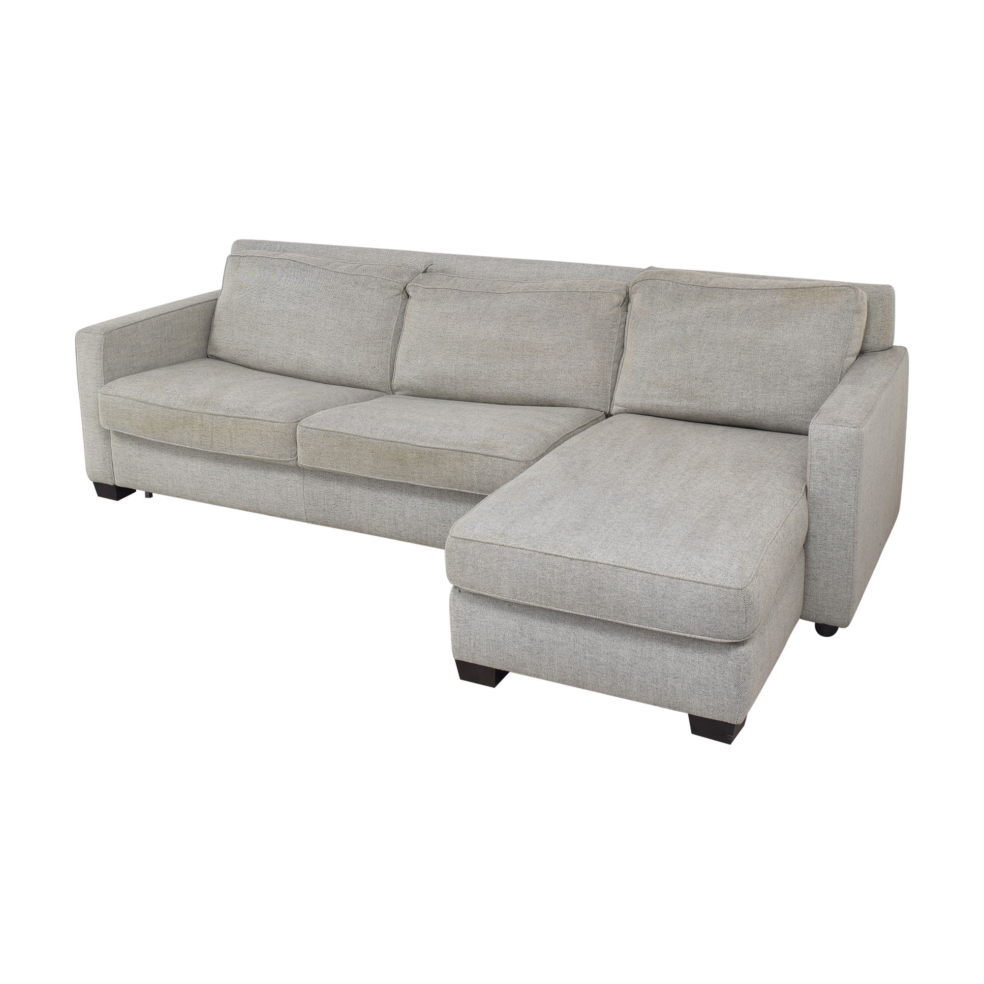West Elm Henry Two Piece Full Sleeper Sectional Sofa with Storage sale