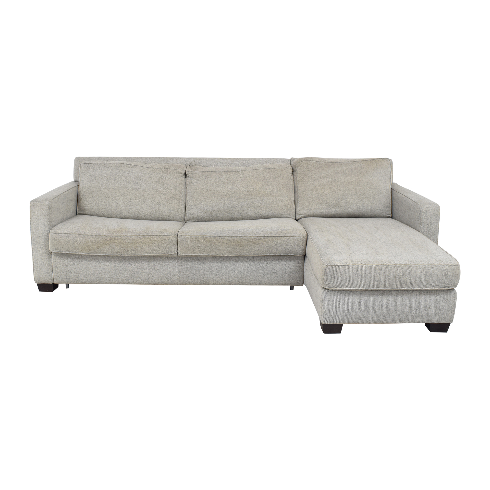 West Elm West Elm Henry Two Piece Full Sleeper Sectional Sofa with Storage ct