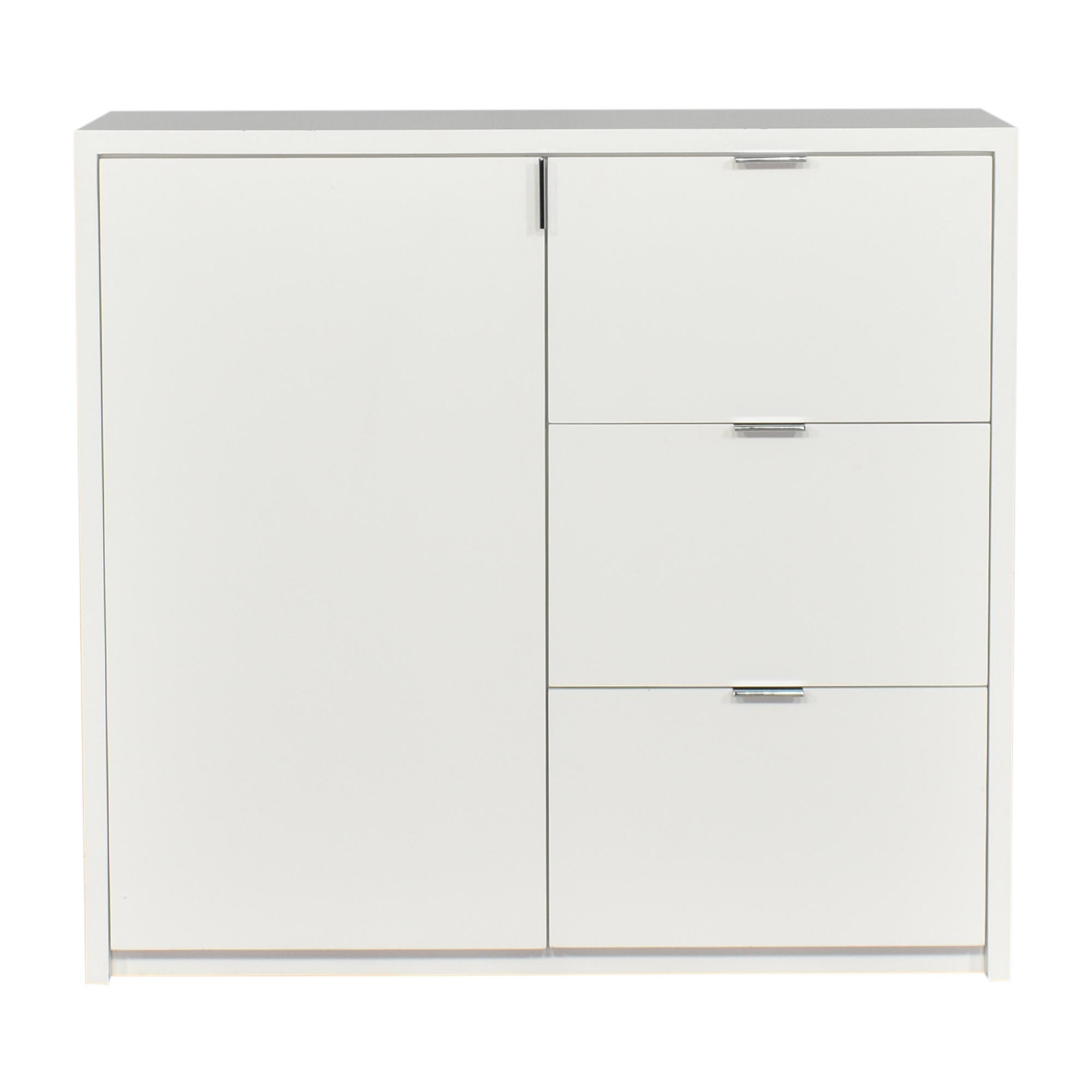 shop Modern Three Drawer Dresser with Cabinet