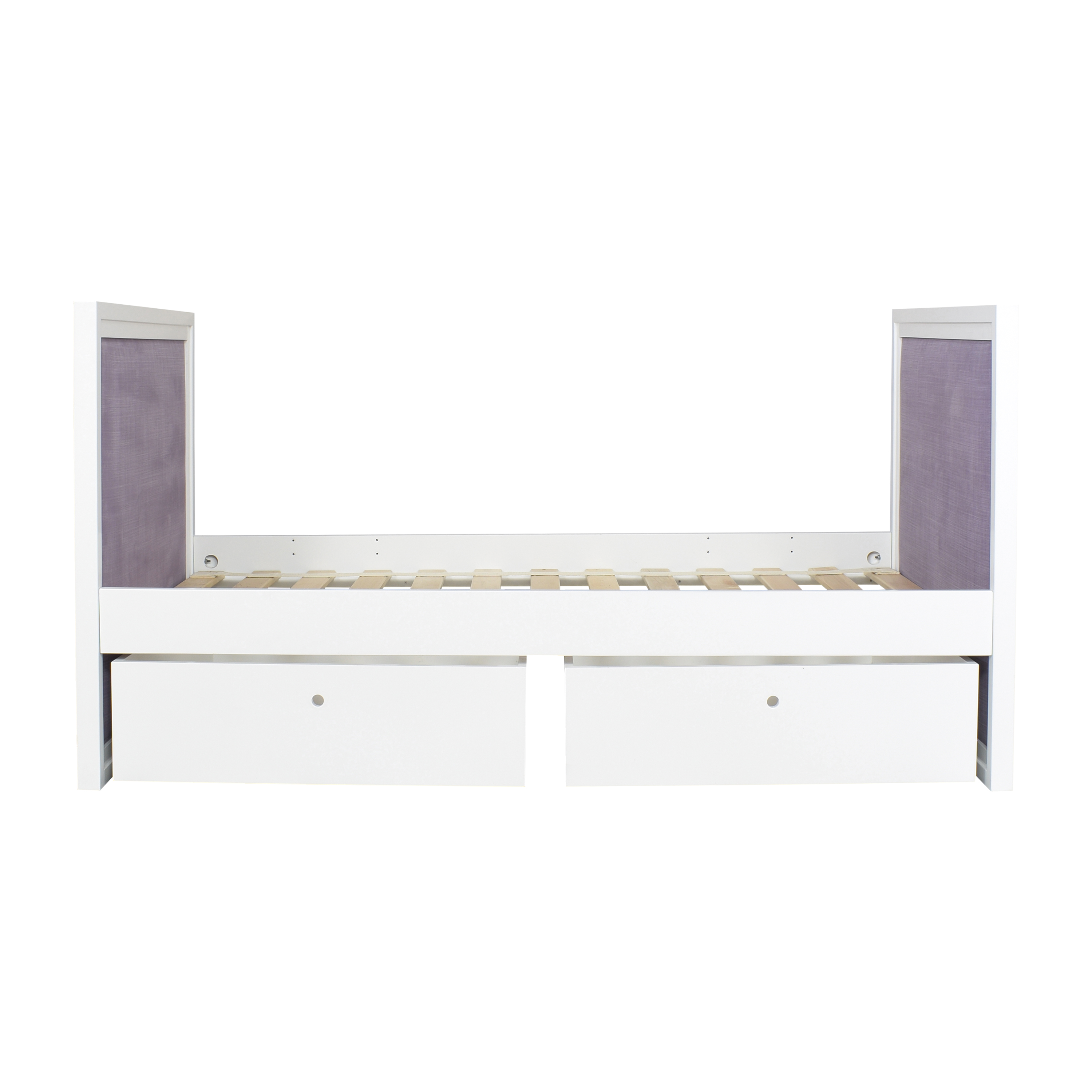ducduc ducduc Cabana Upholstered Twin Daybed with Storage White / Purple