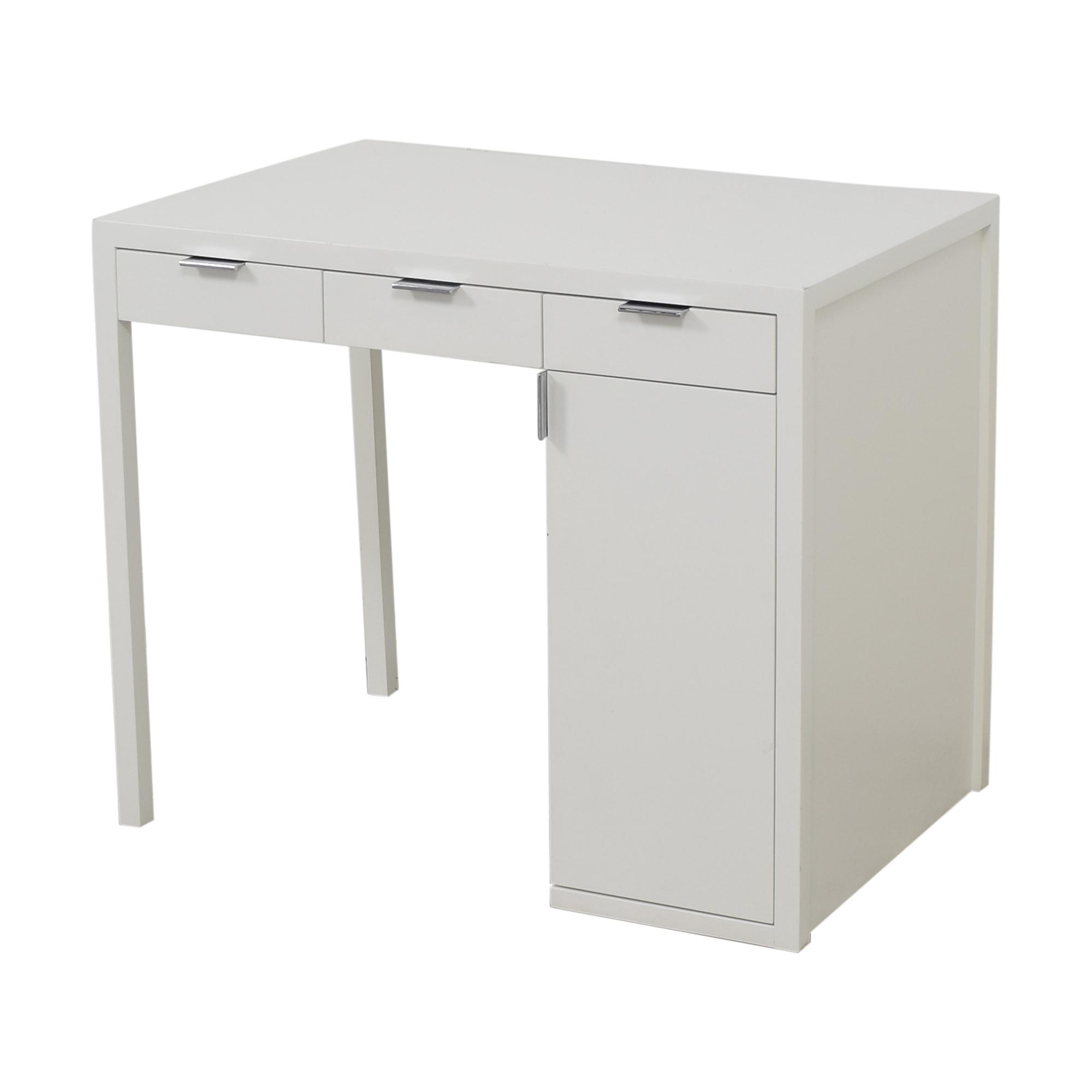 Custom Desk with Storage white